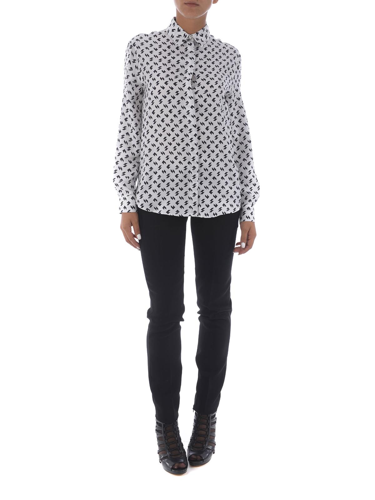 92947a30bf3fa7 Versus versace online shirts geometric patterned silk shirt jpg 1200x1600 Patterned  silk shirt