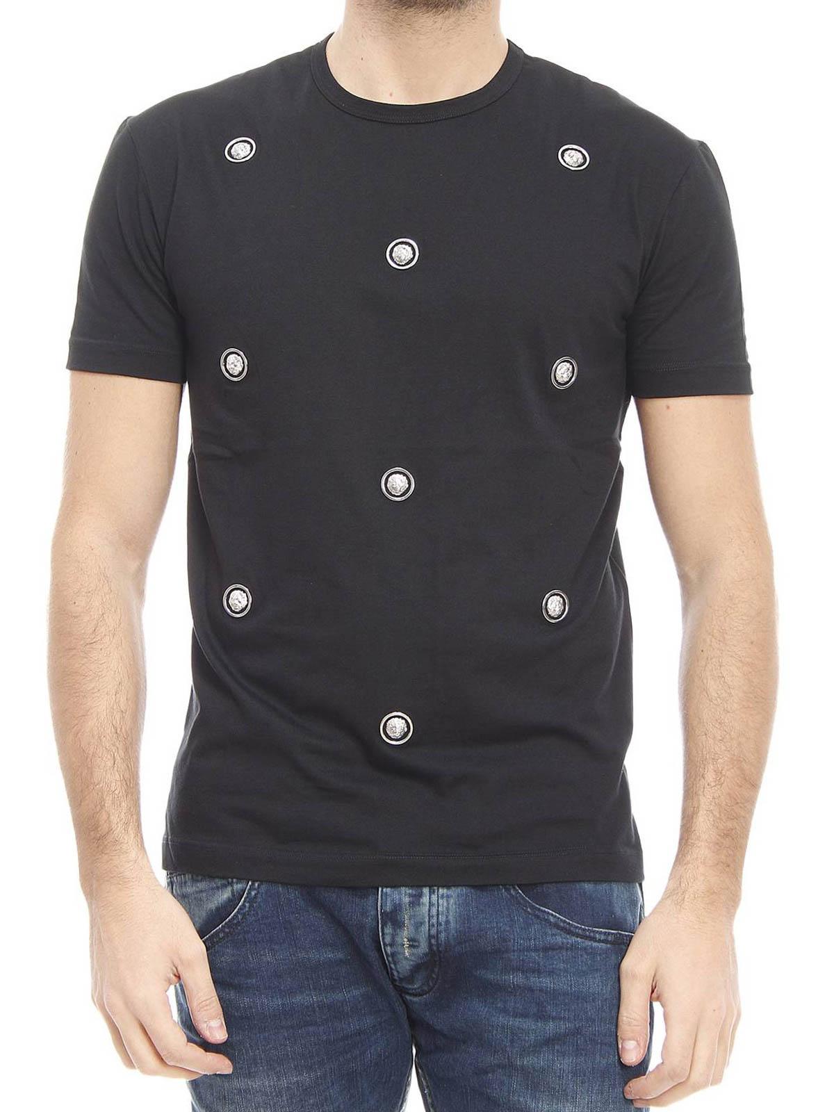 14f9bc8cc Versus Versace - Lion Head studded T-shirt - t-shirts - BU90232 ...