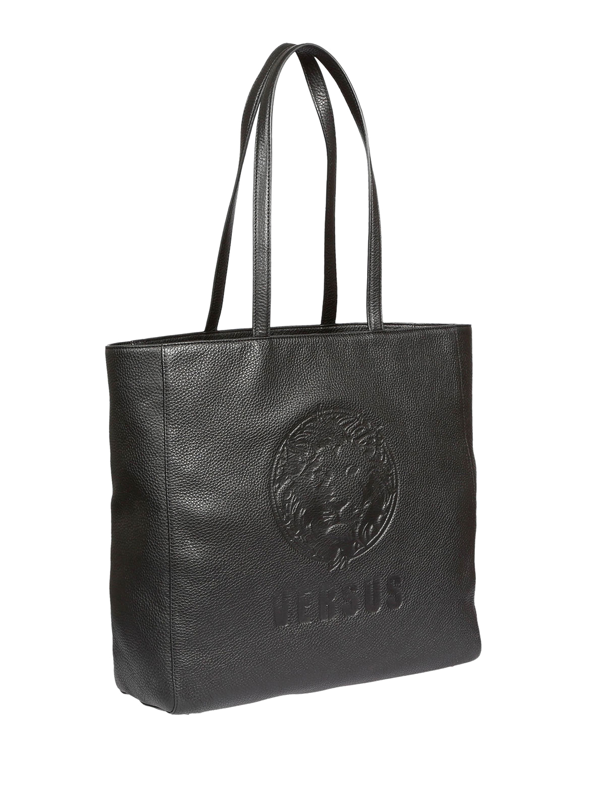c30598f1d1 Versus Versace  totes bags online - EMBOSSED LION HEAD LEATHER TOTE