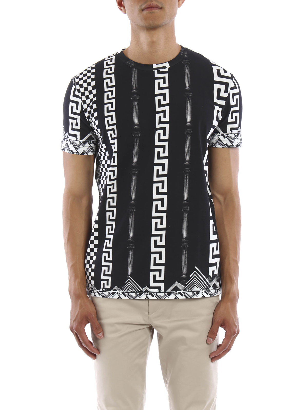 Ancient greece printed t shirt by versus versace t for Online printed t shirts