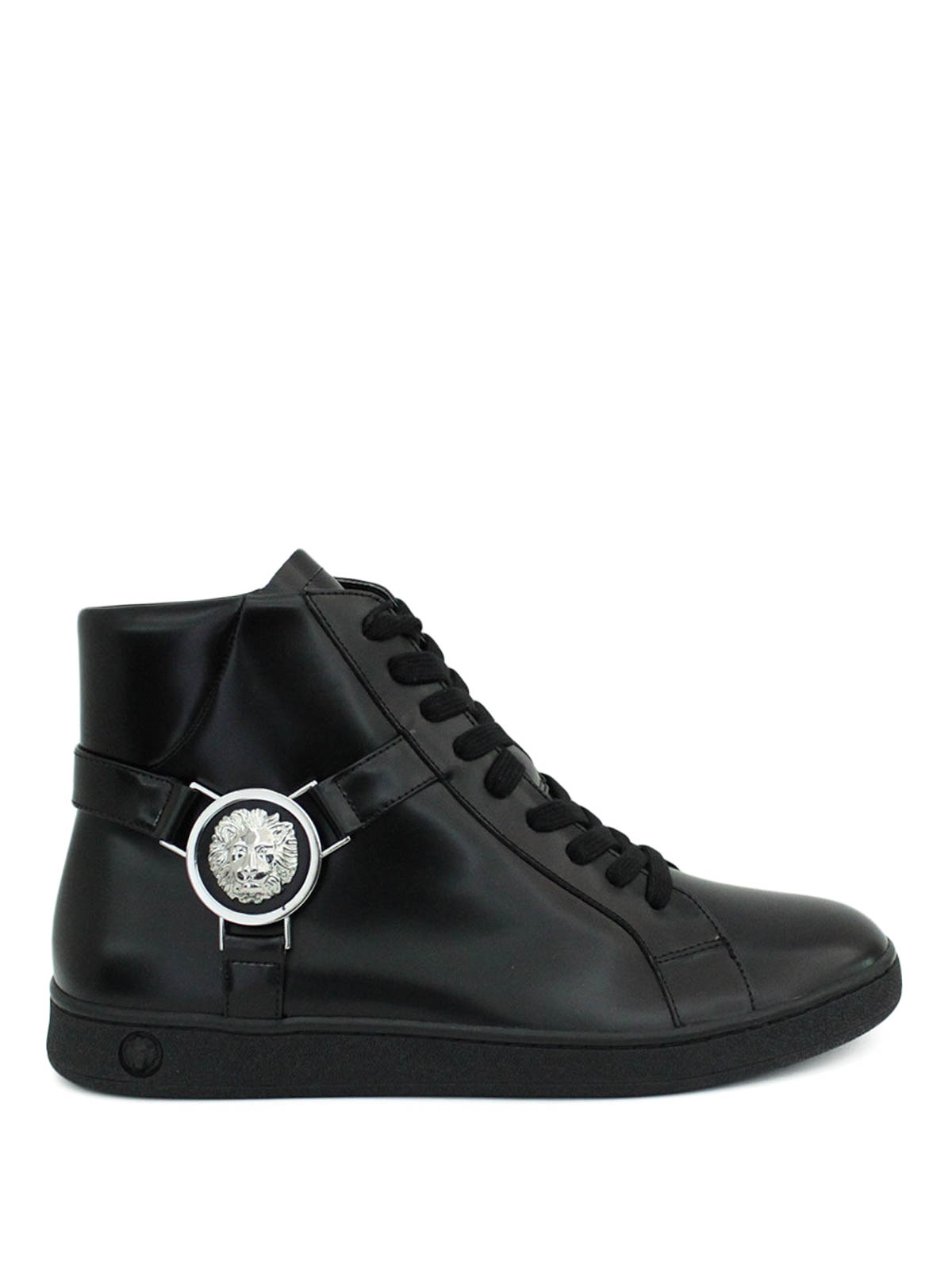 Lion Head high top leather sneakers by Versus Versace ...