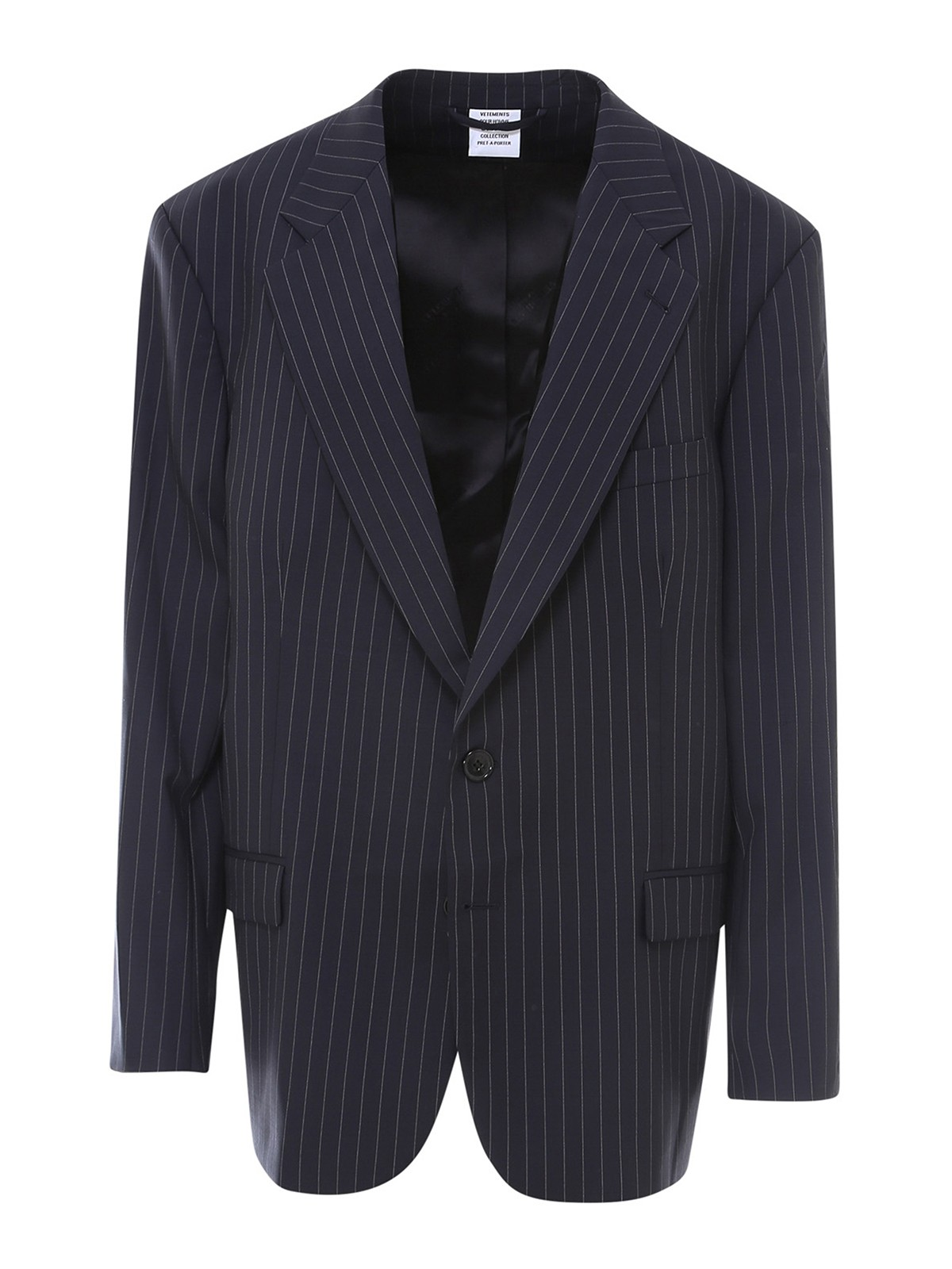 Vetements PINSTRIPED WOOL BLAZER