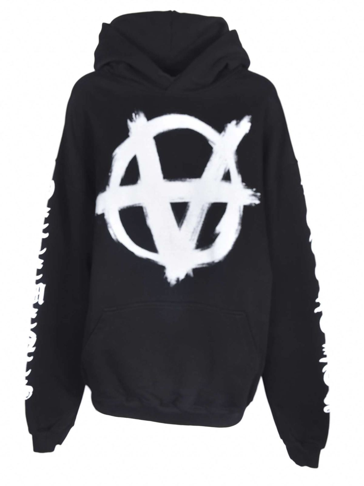 Vetements ANARCHY SWEATSHIRT IN BLACK