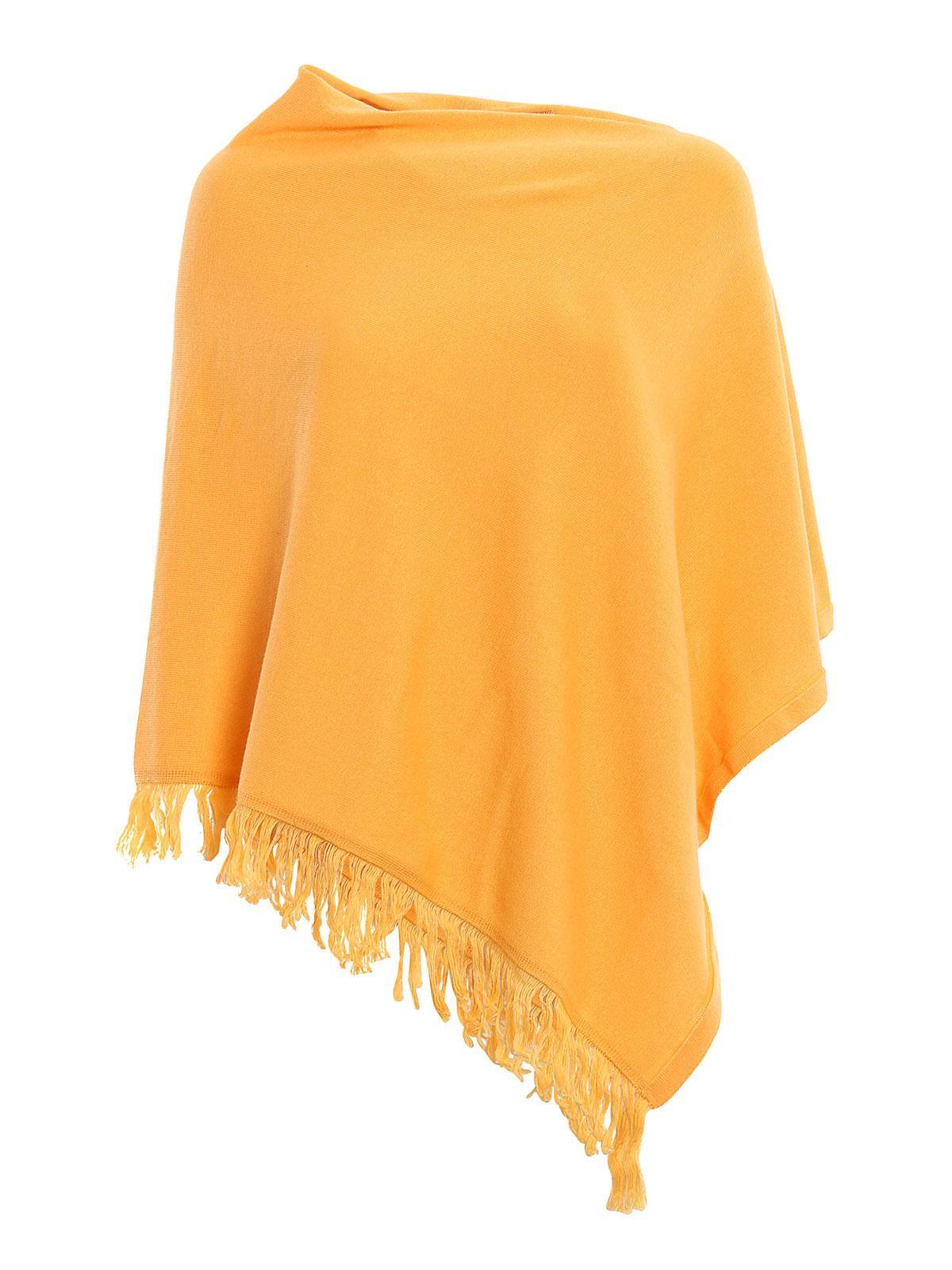 Cotton Knitted Poncho By Vico Dritto Portofino Capes
