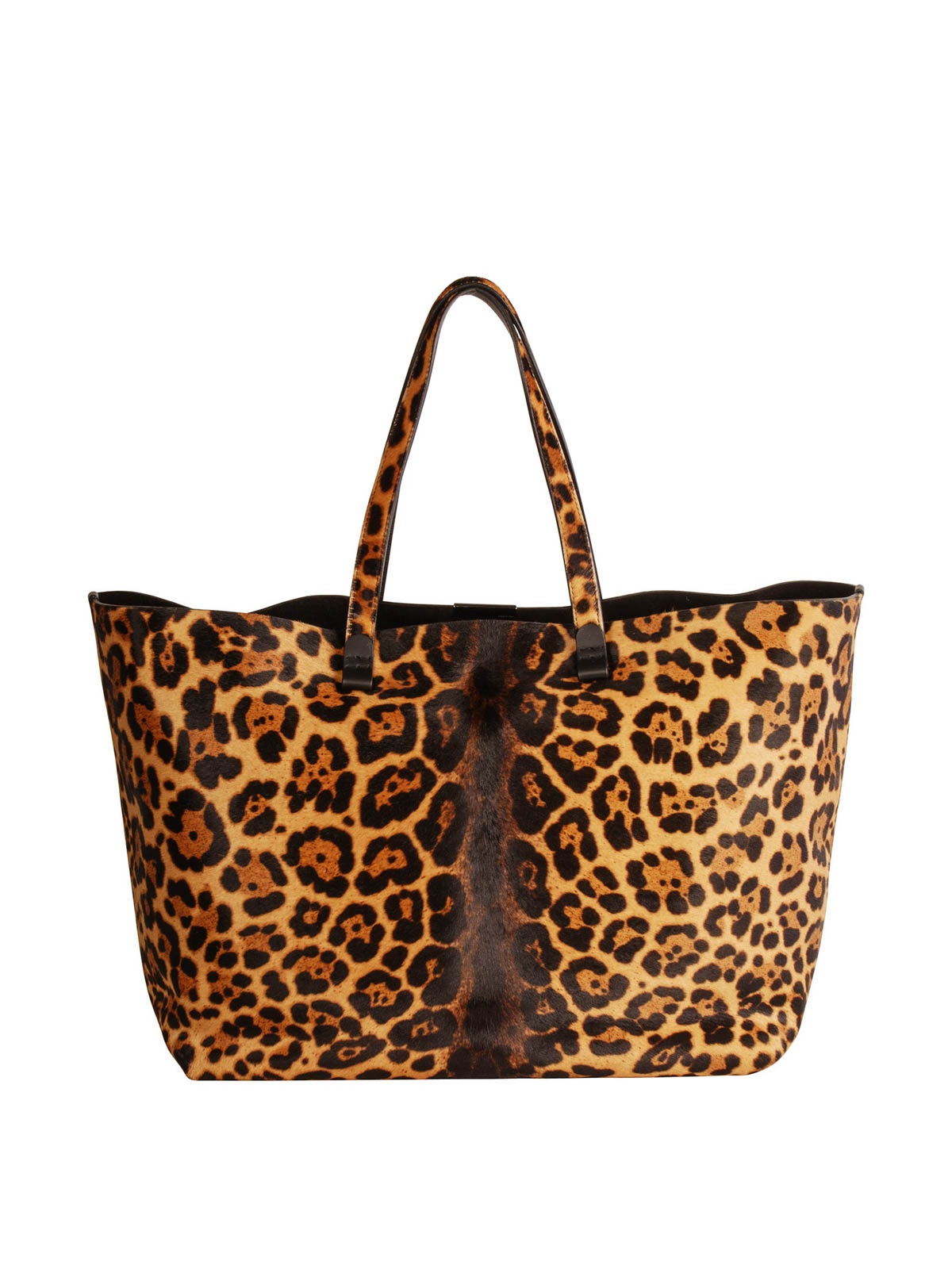 823639581461 Victoria Beckham - Animal print pony hair tote - totes bags ...