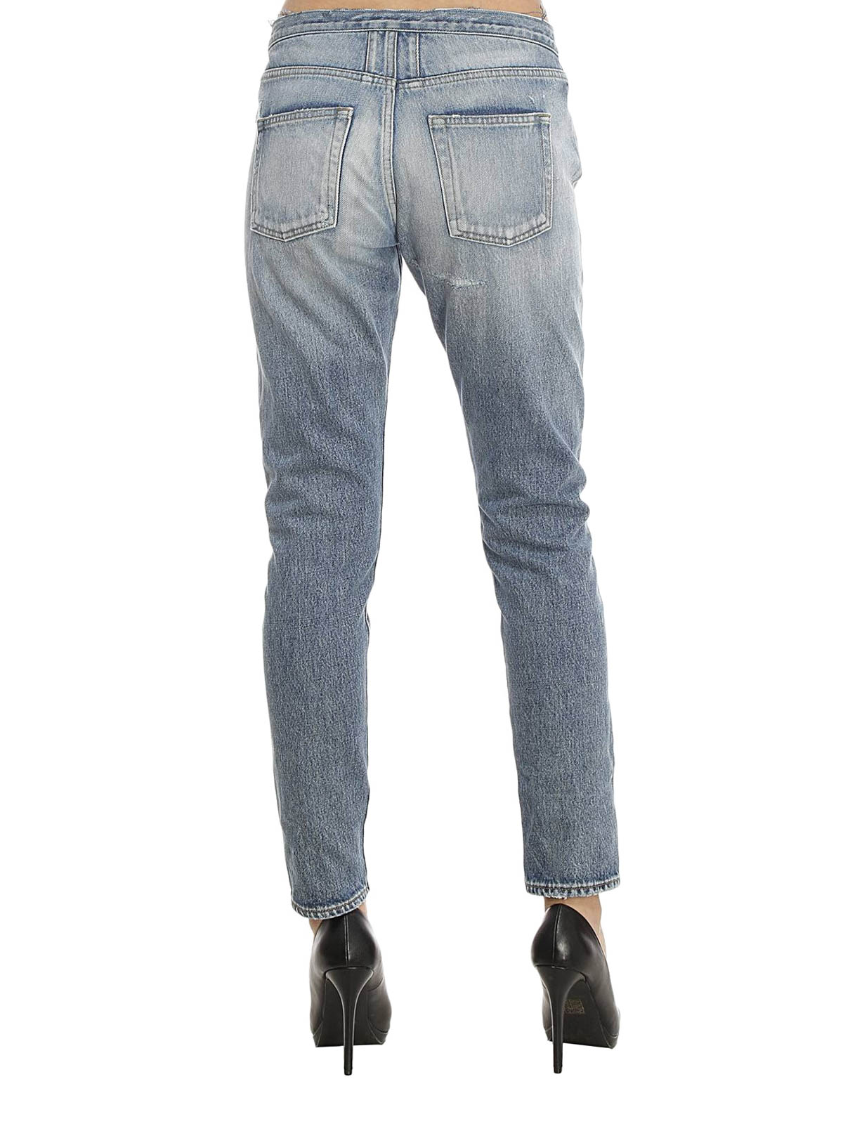 new products for newest multiple colors Saint Laurent - Vintage effect boyfriend jeans - Boyfriend ...