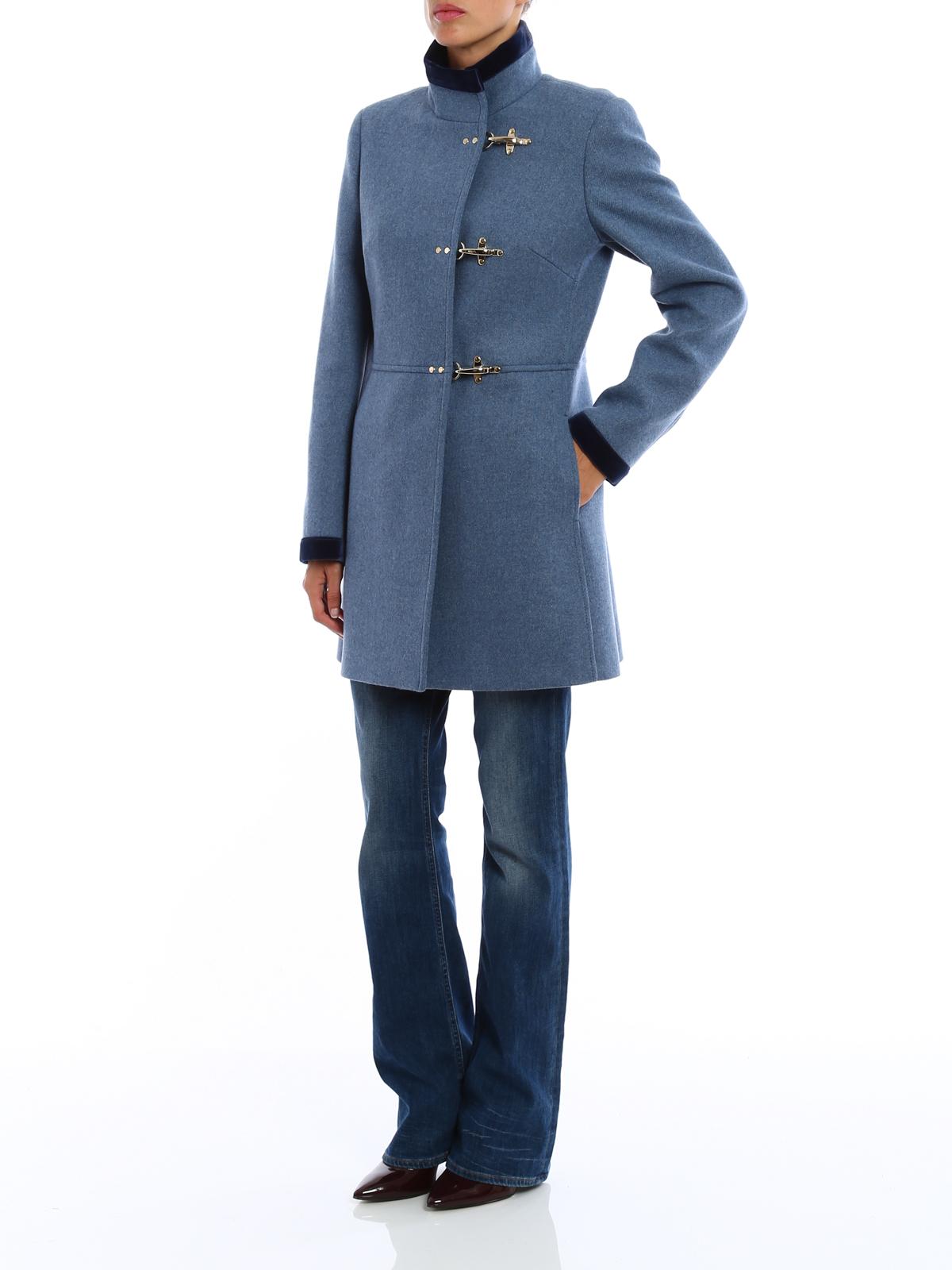 Virginia velvet trimmed coat by Fay