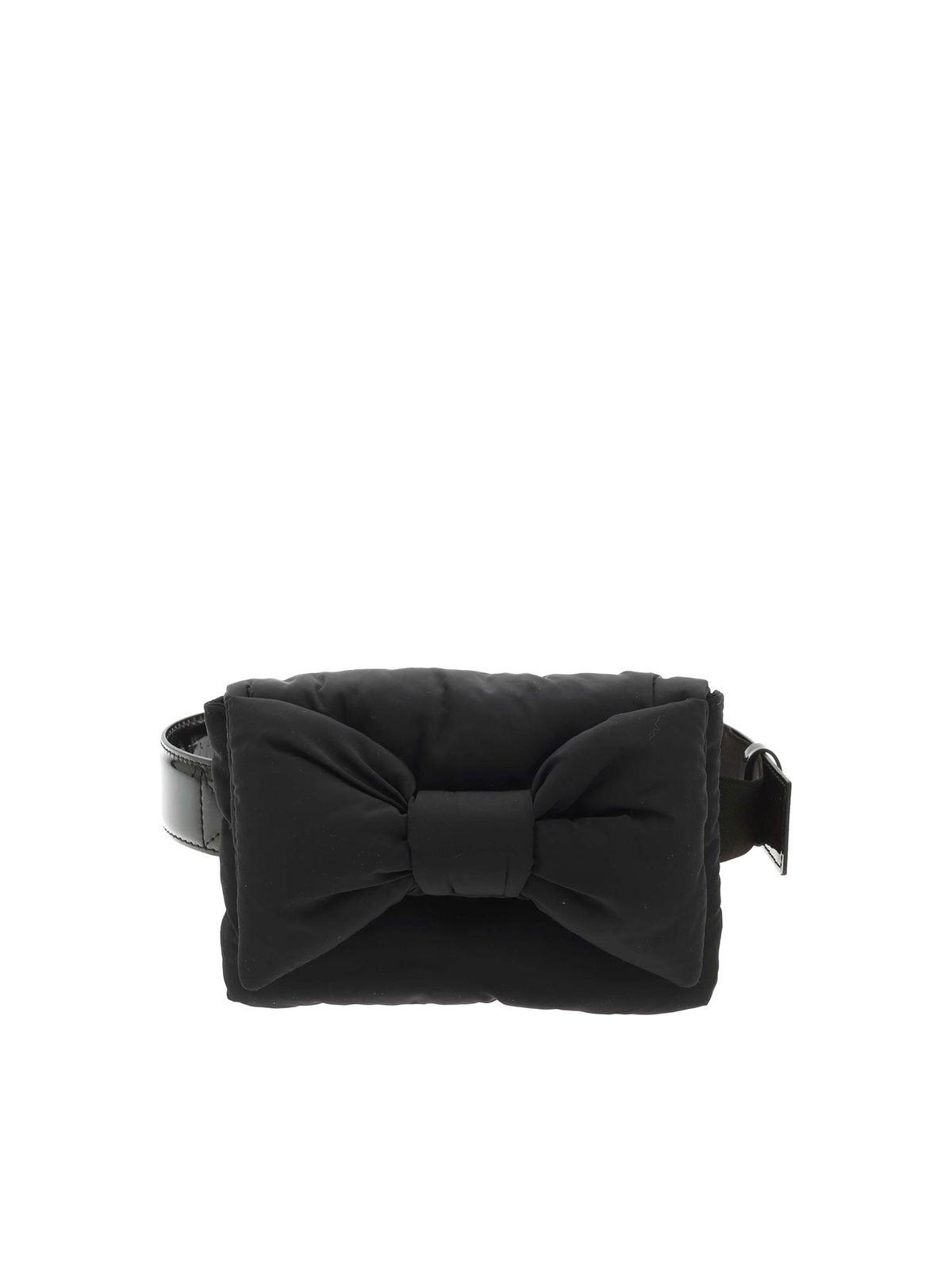 Vivetta BOW BELT BAG IN BLACK