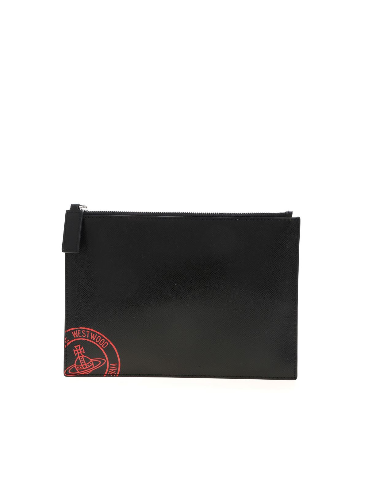 Vivienne Westwood KENT POUCH CLUTCH BAG IN BLACK
