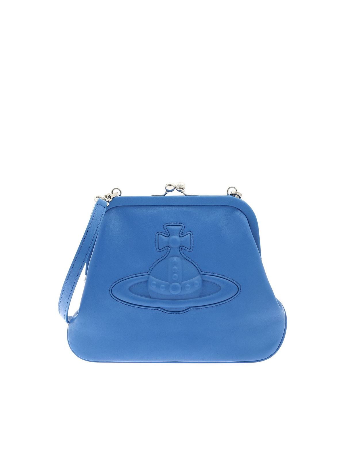 Vivienne Westwood CHELSEA VIVIENNES CLUTCH BAG IN BLUE