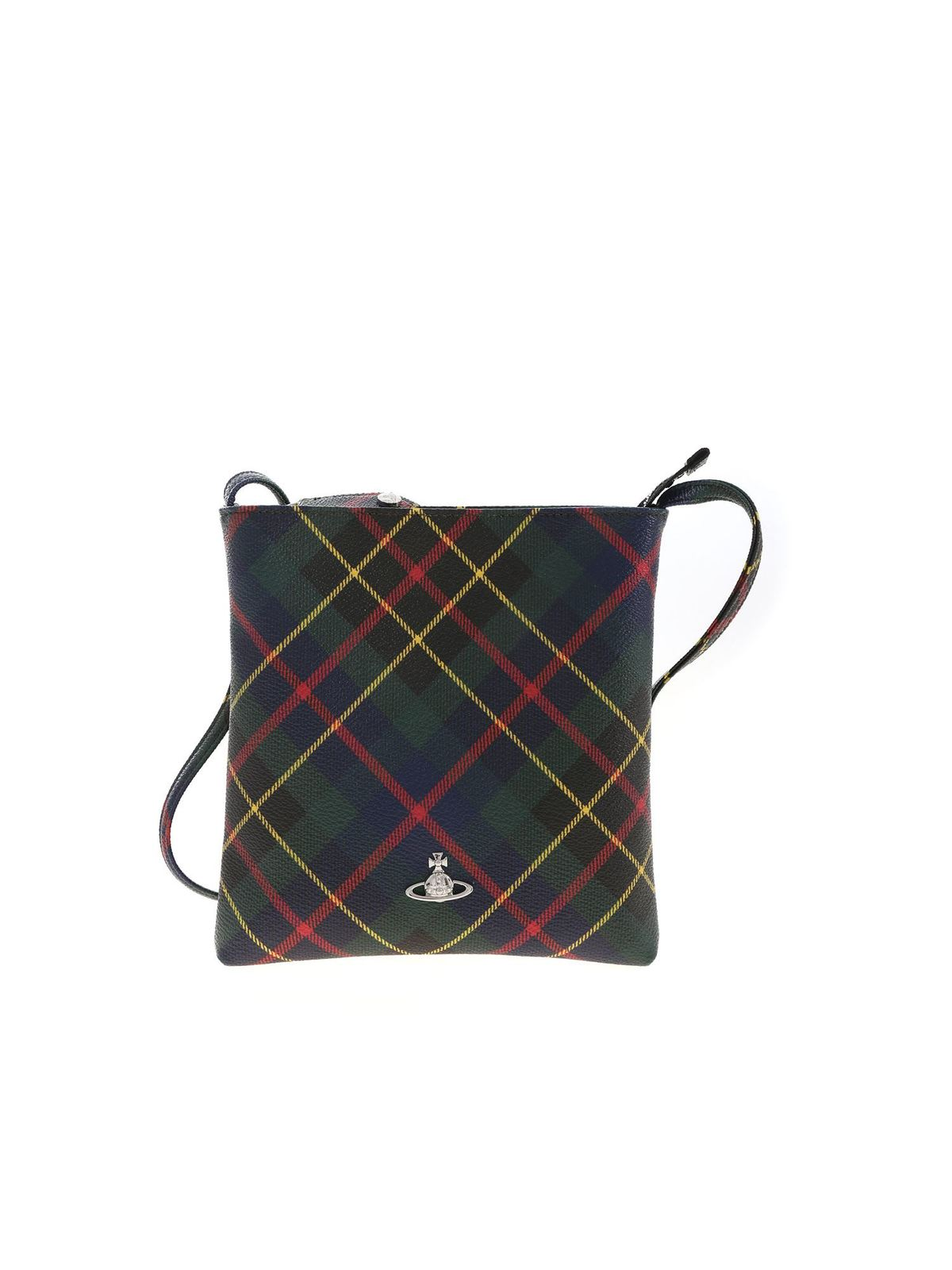 Vivienne Westwood DERBY HUNTING TARTAN SHOULDER BAG
