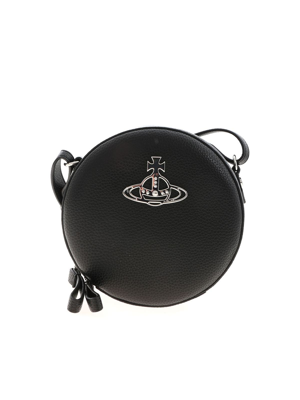 Vivienne Westwood JOHANNA ROUND CROSSBODY BAG IN BLACK