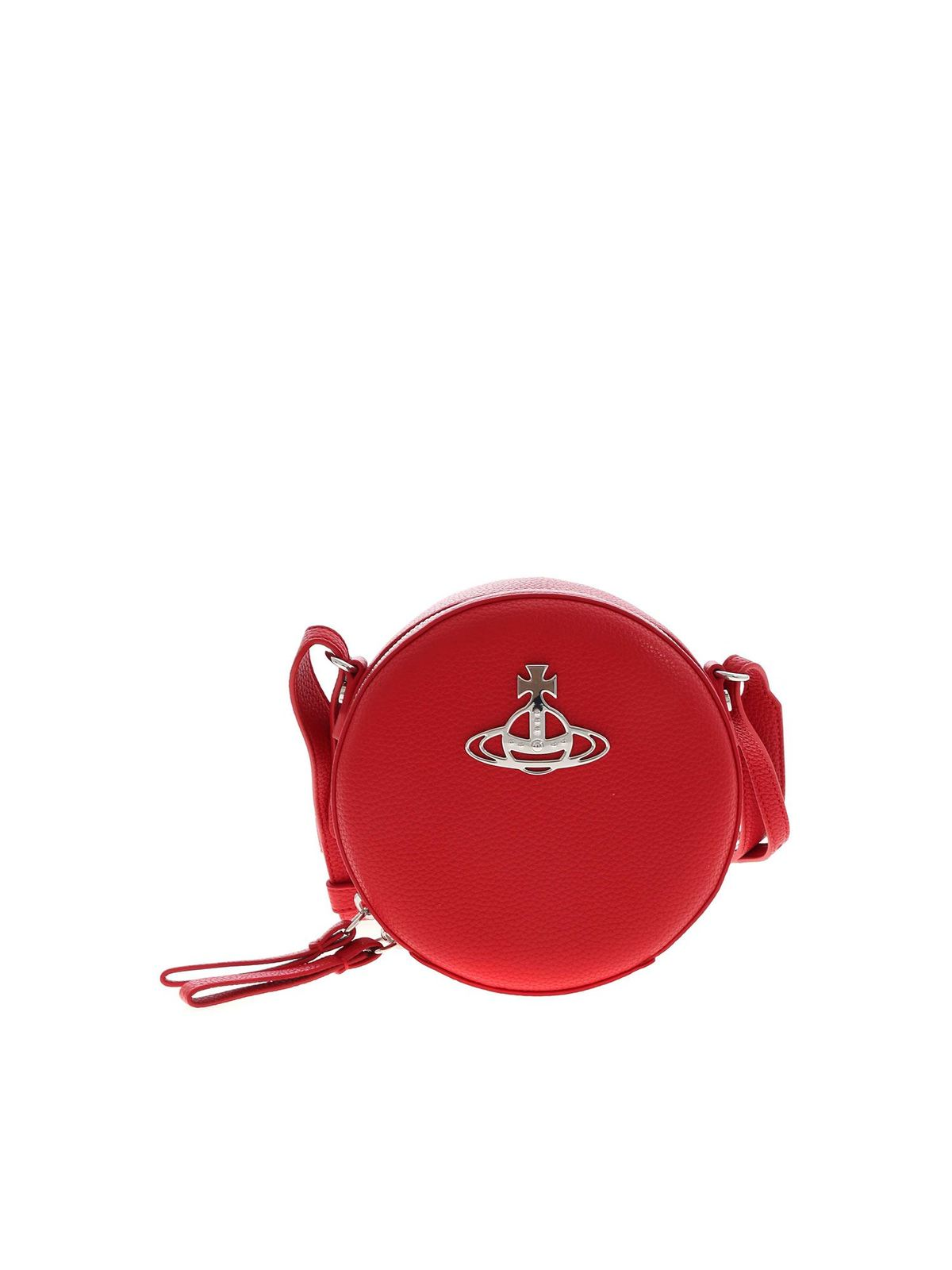 Vivienne Westwood JOHANNA ROUND CROSSBODY BAG IN RED