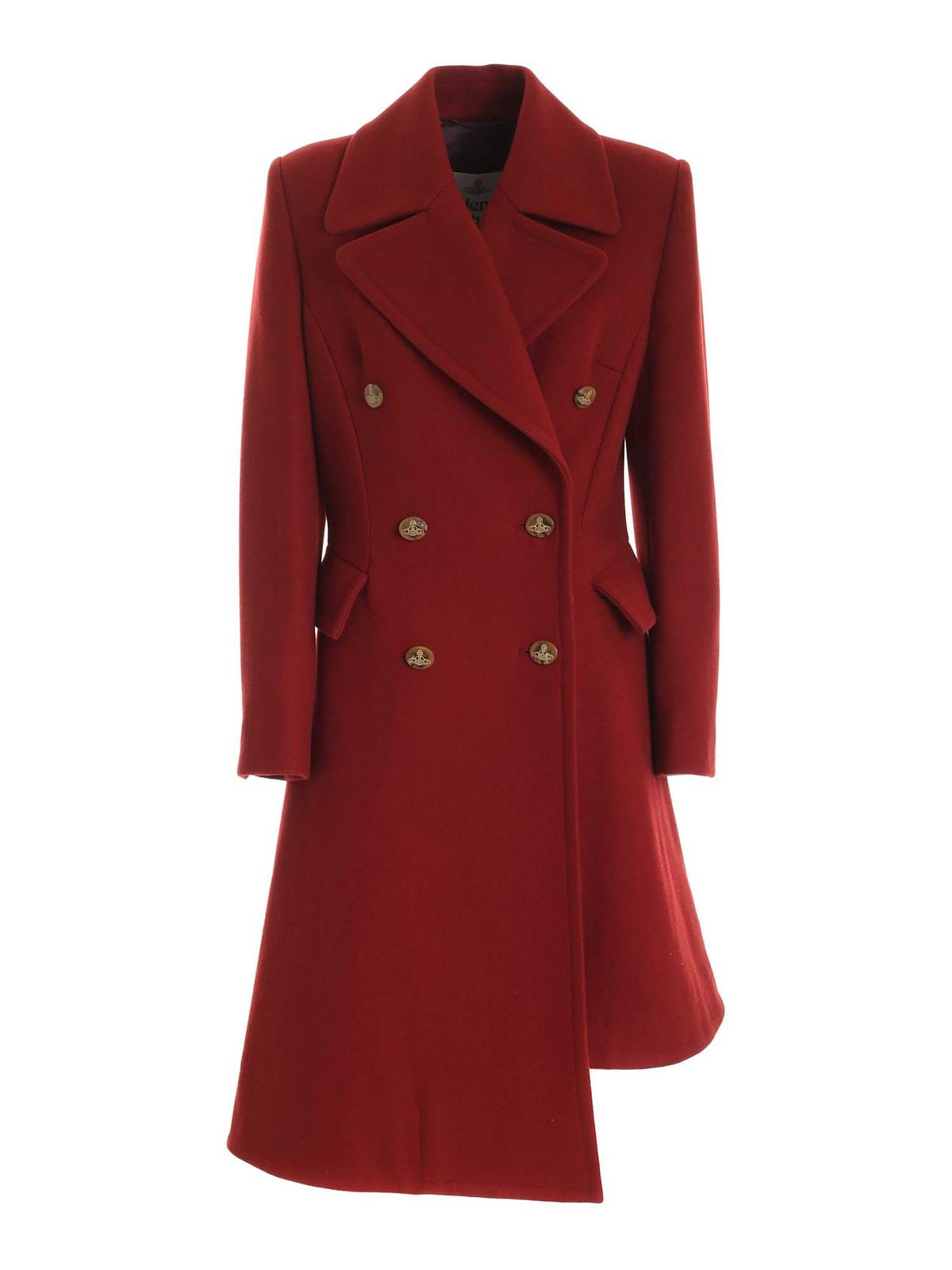Vivienne Westwood DOUBLE-BREASTED COAT IN RED