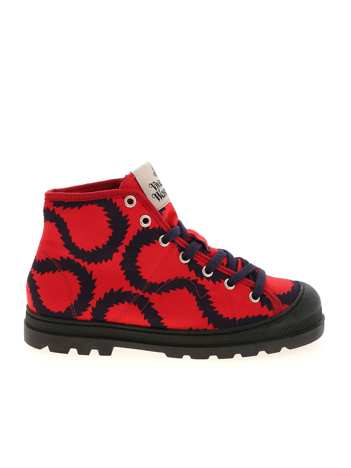 Vivienne Westwood SIMIAN SQUIGGLE SNEAKERS IN RED