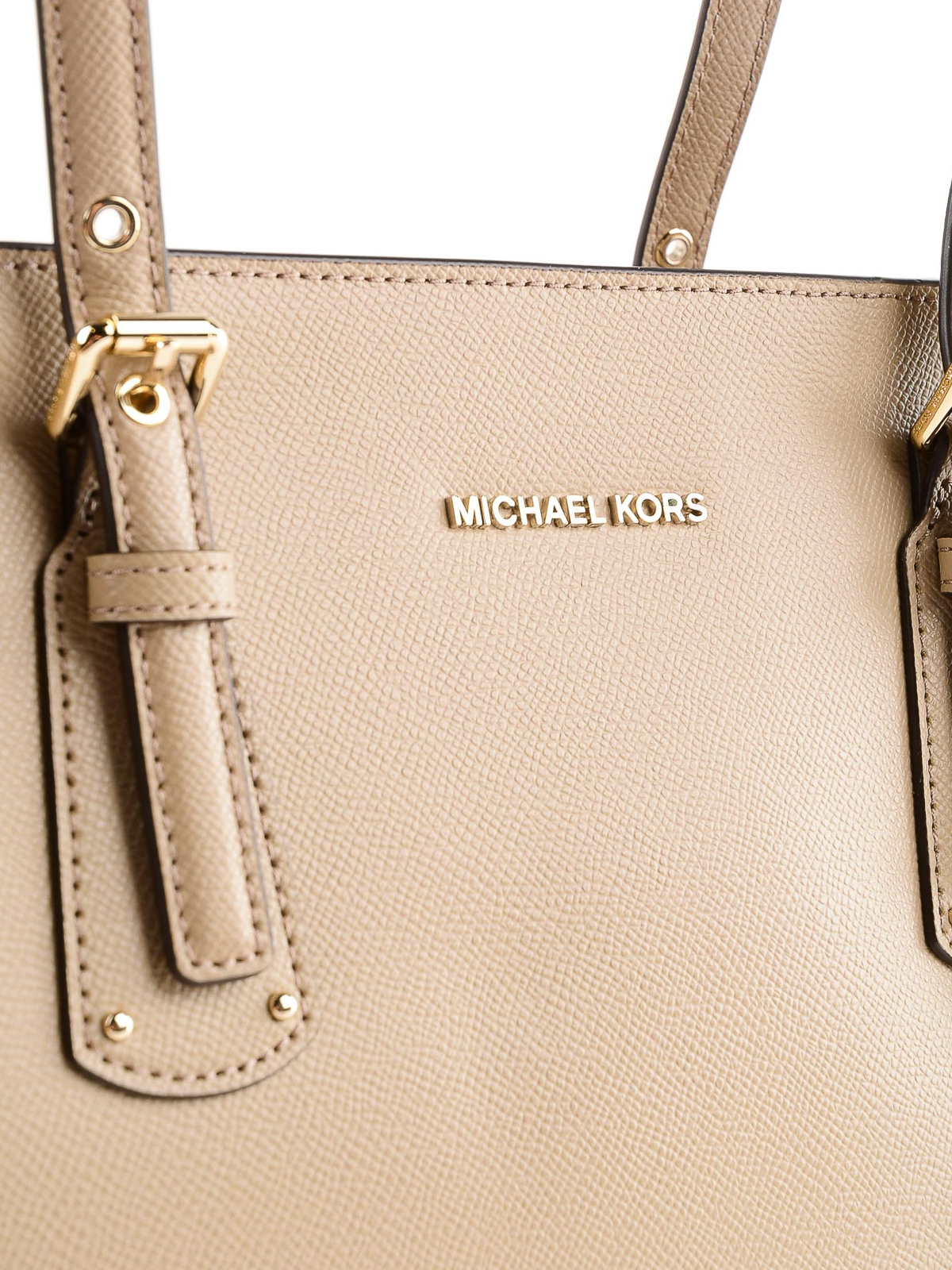 3665e3163dcfc4 Michael Kors - Voyager medium beige leather tote - totes bags ...
