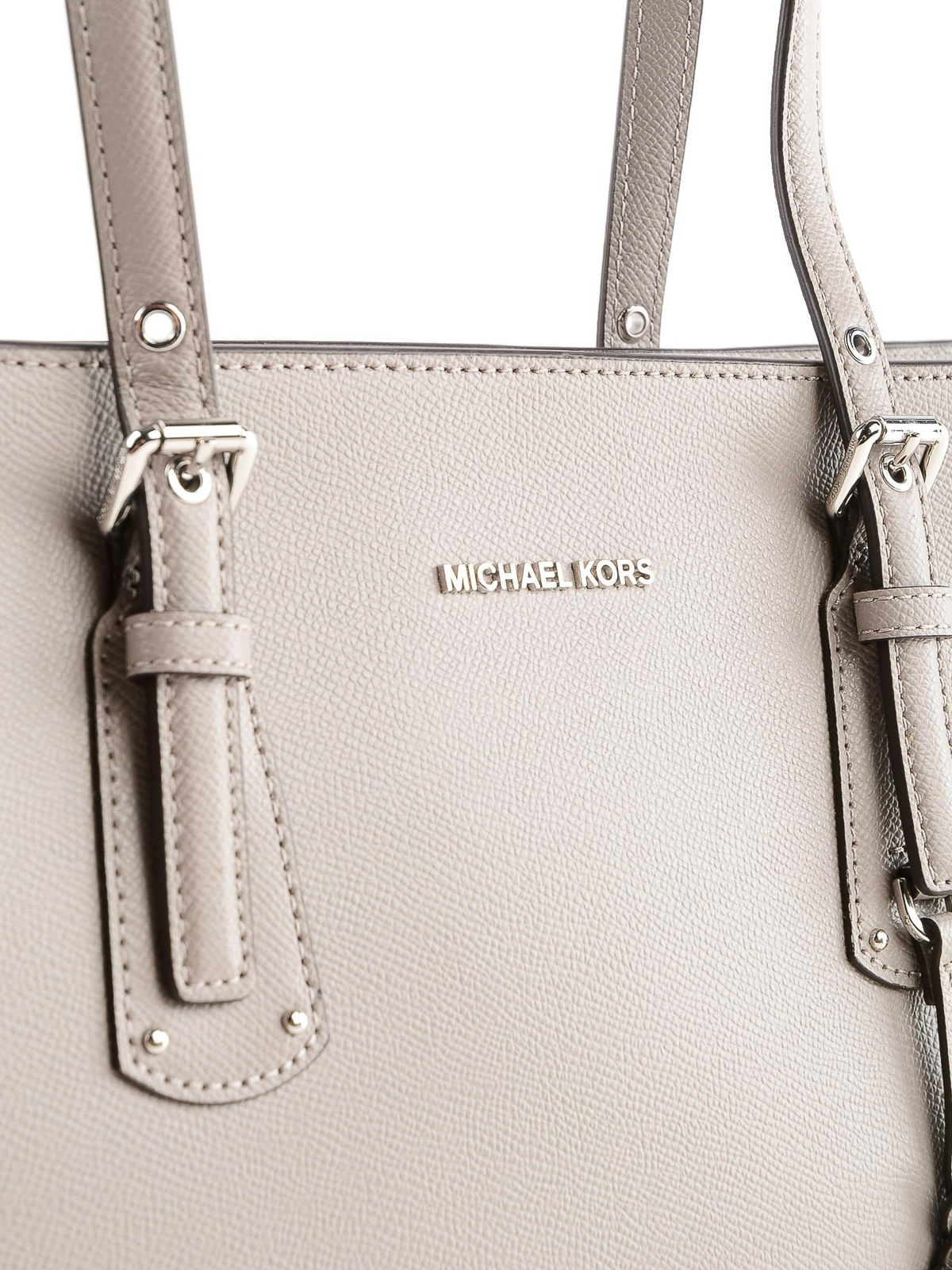 36bdccc28a66e2 Michael Kors - Voyager medium pearl grey leather tote - totes bags ...