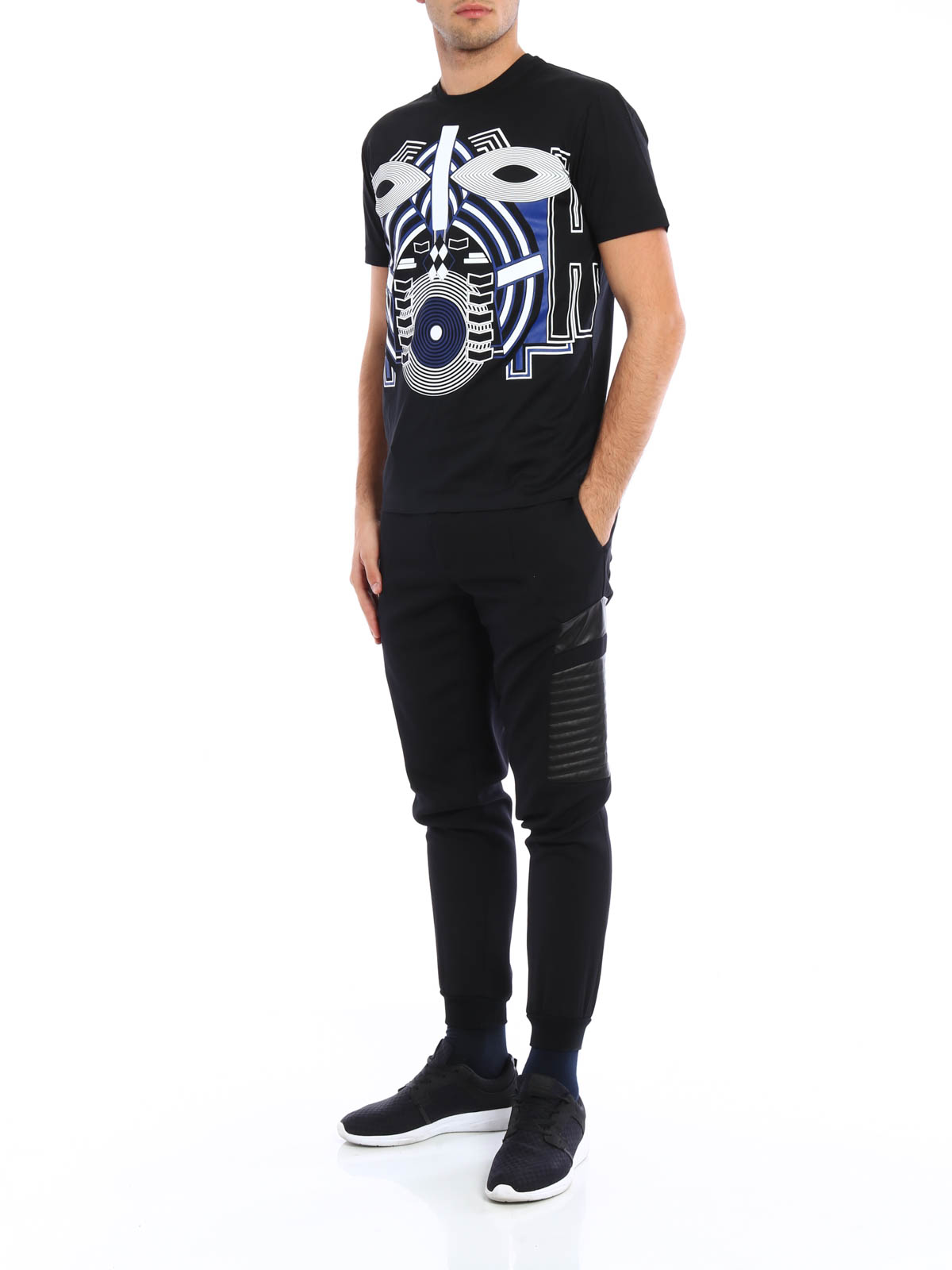 94ff565e0e816 Les Hommes - Warrior Mask print cotton T-shirt - t-shirts ...