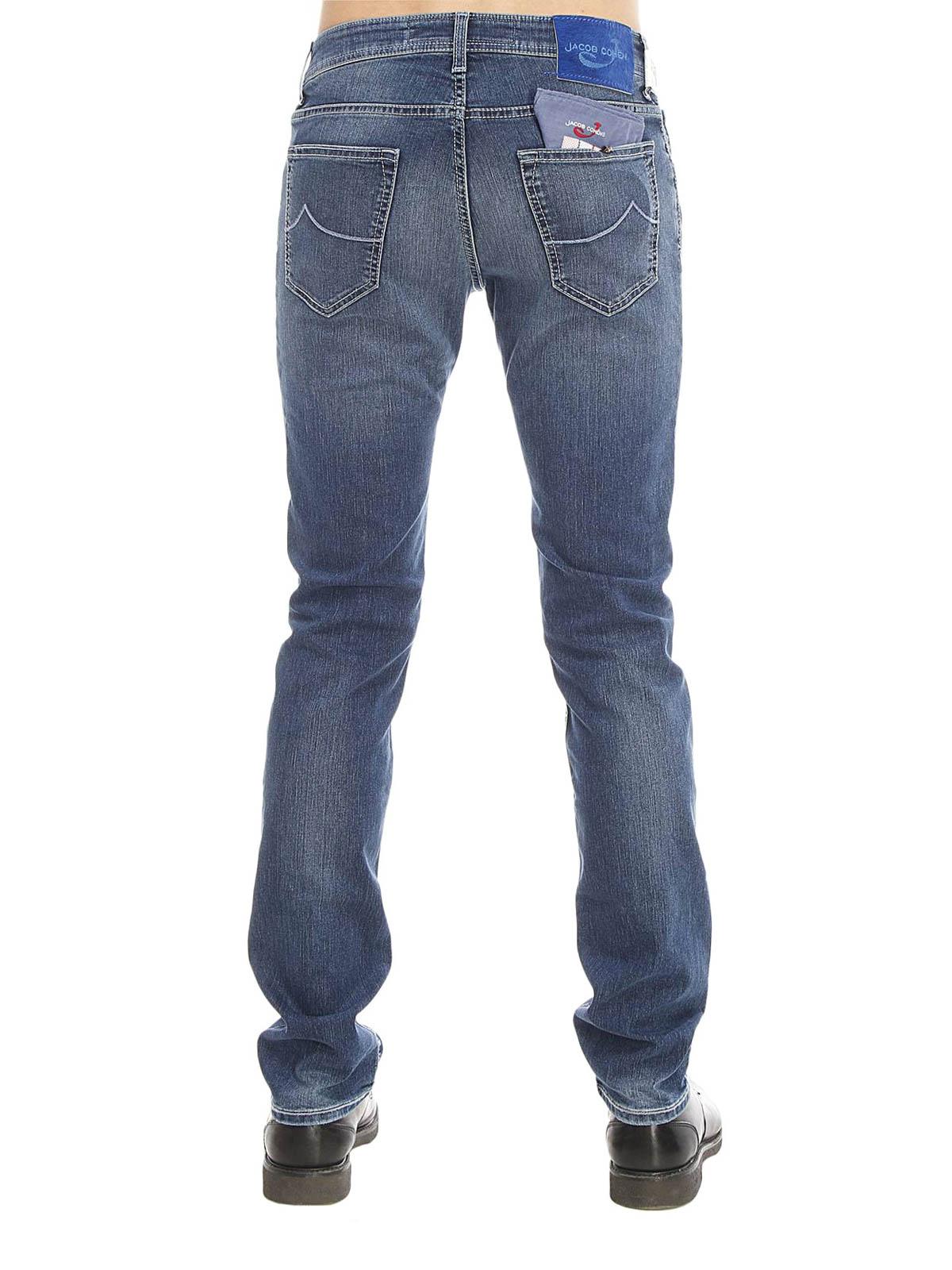 jeans slavato jacob cohen jeans dritti a sigaretta ikrix. Black Bedroom Furniture Sets. Home Design Ideas