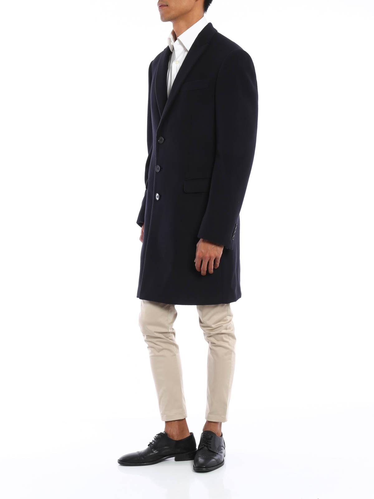d4cc4f4dd67a Armani Collezioni - Water repellent wool coat - short coats - UCLMA0 ...