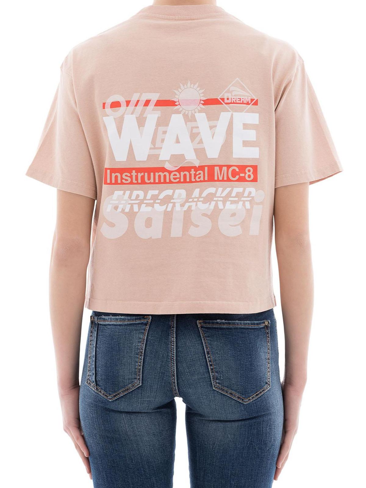 a9c8d921ef93 Kenzo - Wave print cotton crop T-shirt - t-shirts - F852TO774985 09