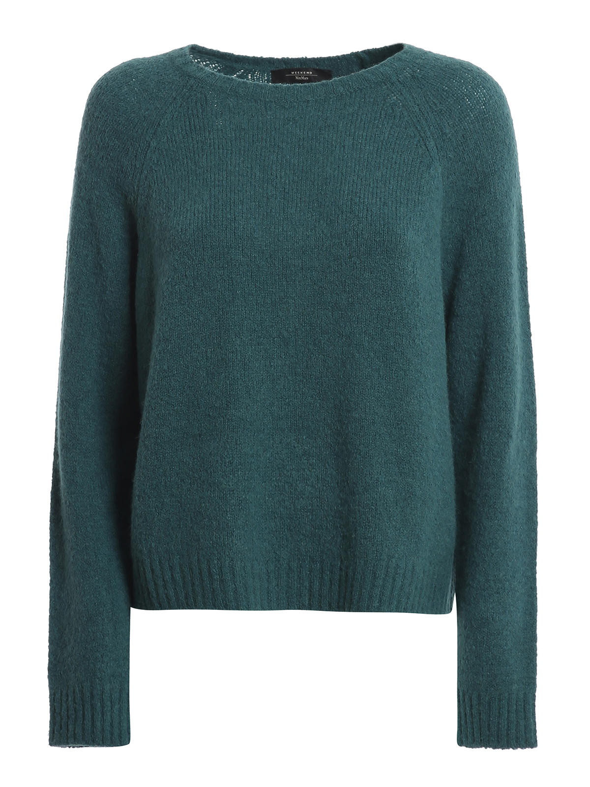 Weekend Max Mara Amici Alpaca Blend Sweater In Dark Green