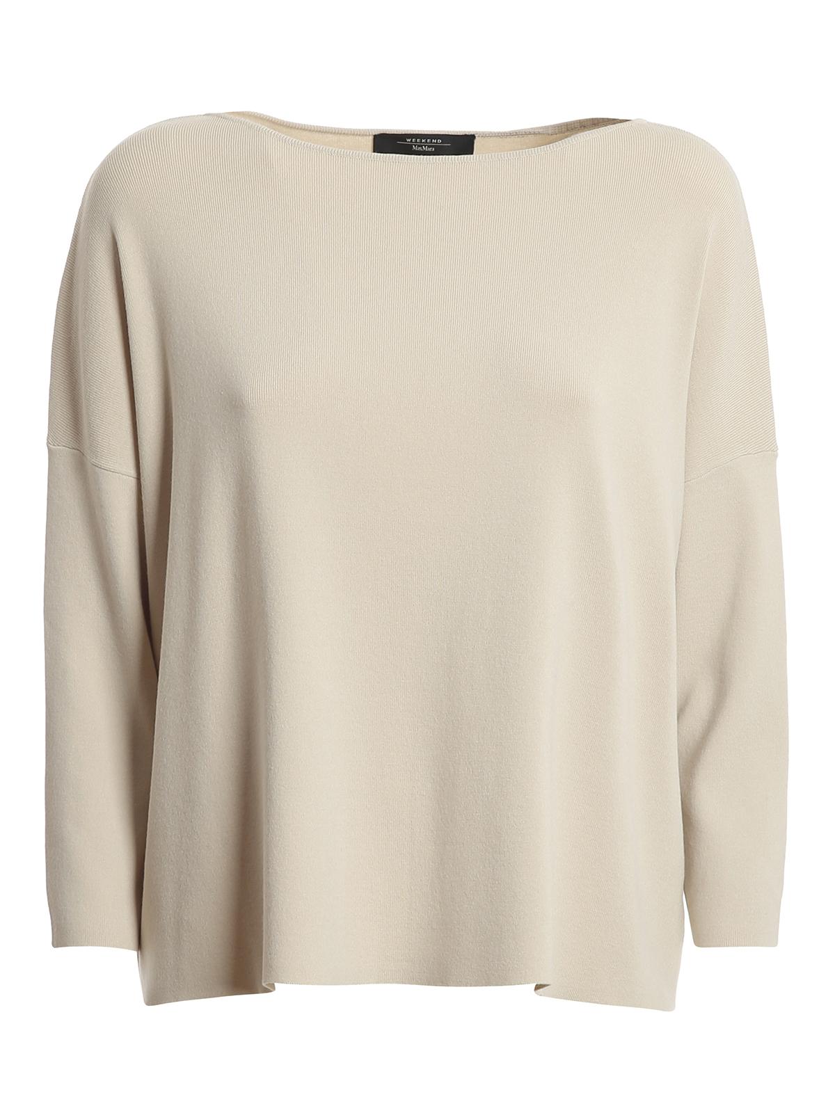 Weekend Max Mara Nadar Sweater In Light Beige