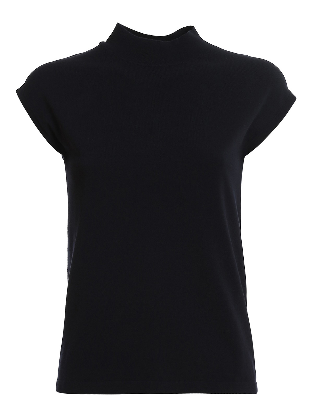 Weekend Max Mara Supremo Viscose Blend Sleeveless Sweater In Dark Blue