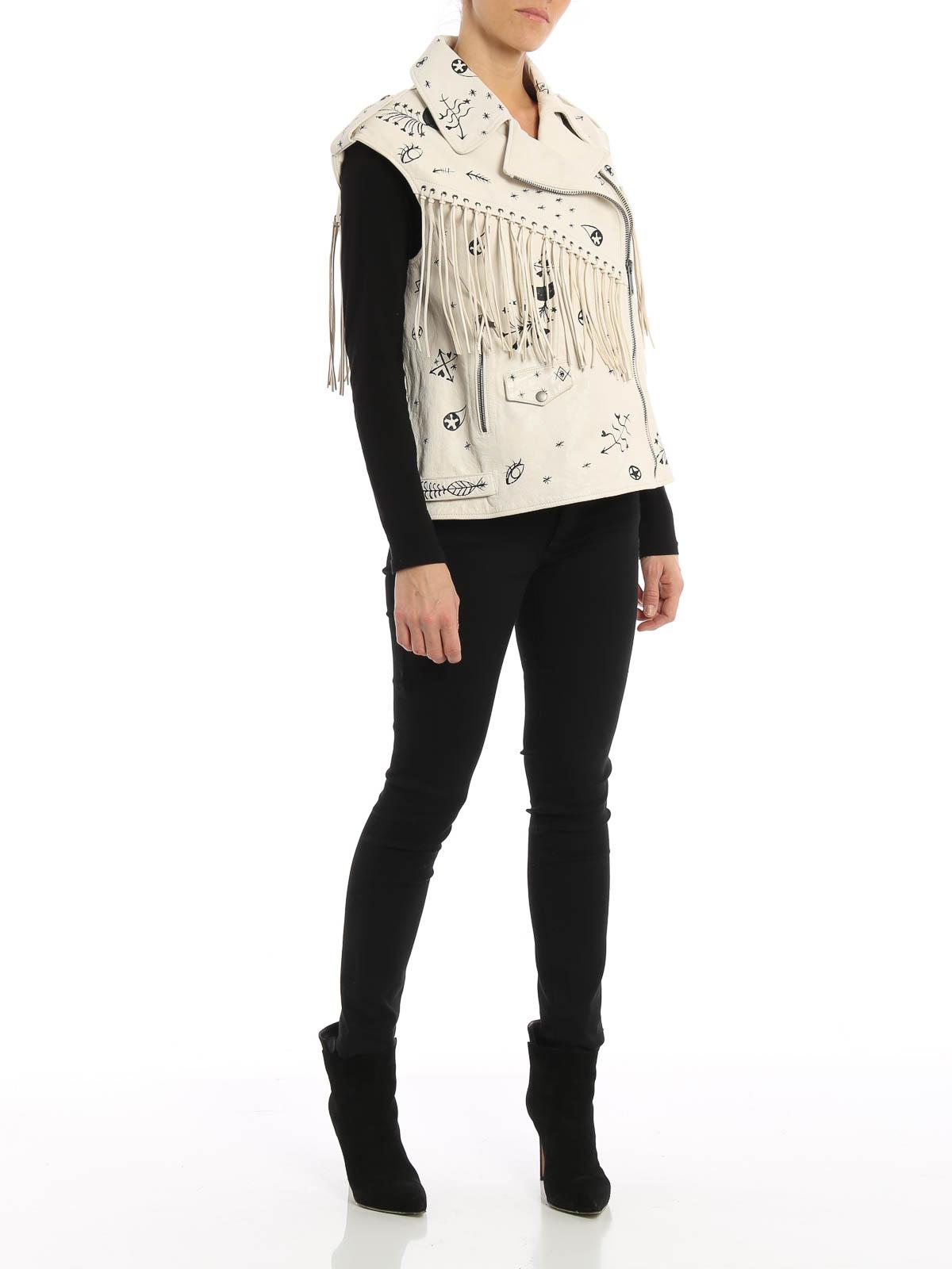 brand new 651a7 ab3fa Valentino - Smanicato in pelle stile Western - giacche in ...
