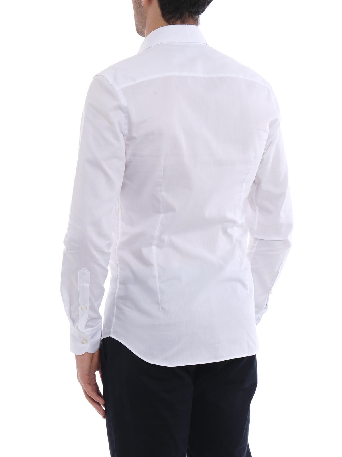 sale retailer 03d30 a0634 Fay - Camicia bianca in garza di cotone - camicie ...