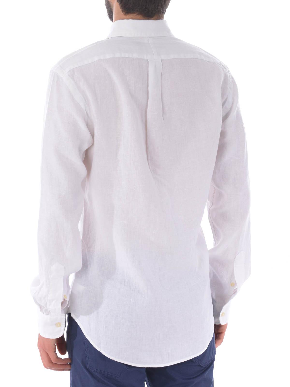 b00ae11d157626 Polo Ralph Lauren - White linen b d shirt - shirts - 744906008 ...