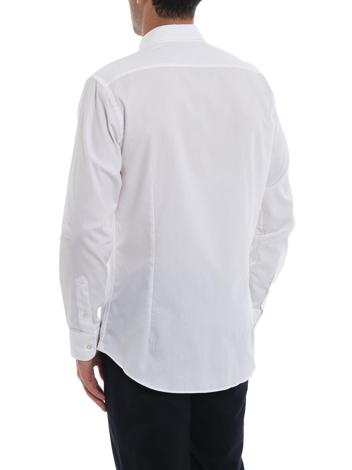 superior quality ddc68 e0165 Etro - Camicia bianca in cotone fantasia - camicie ...