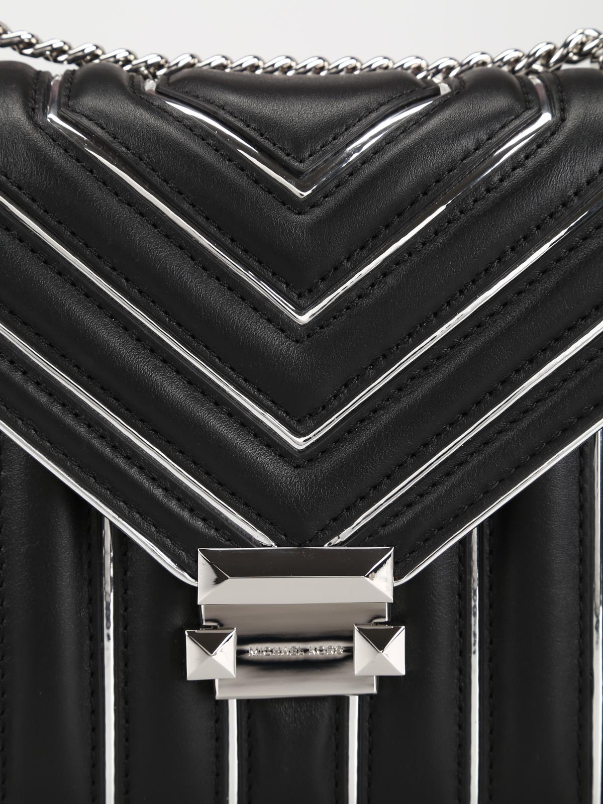 Michael Kors Borsa Whitney grande in pelle e metallo