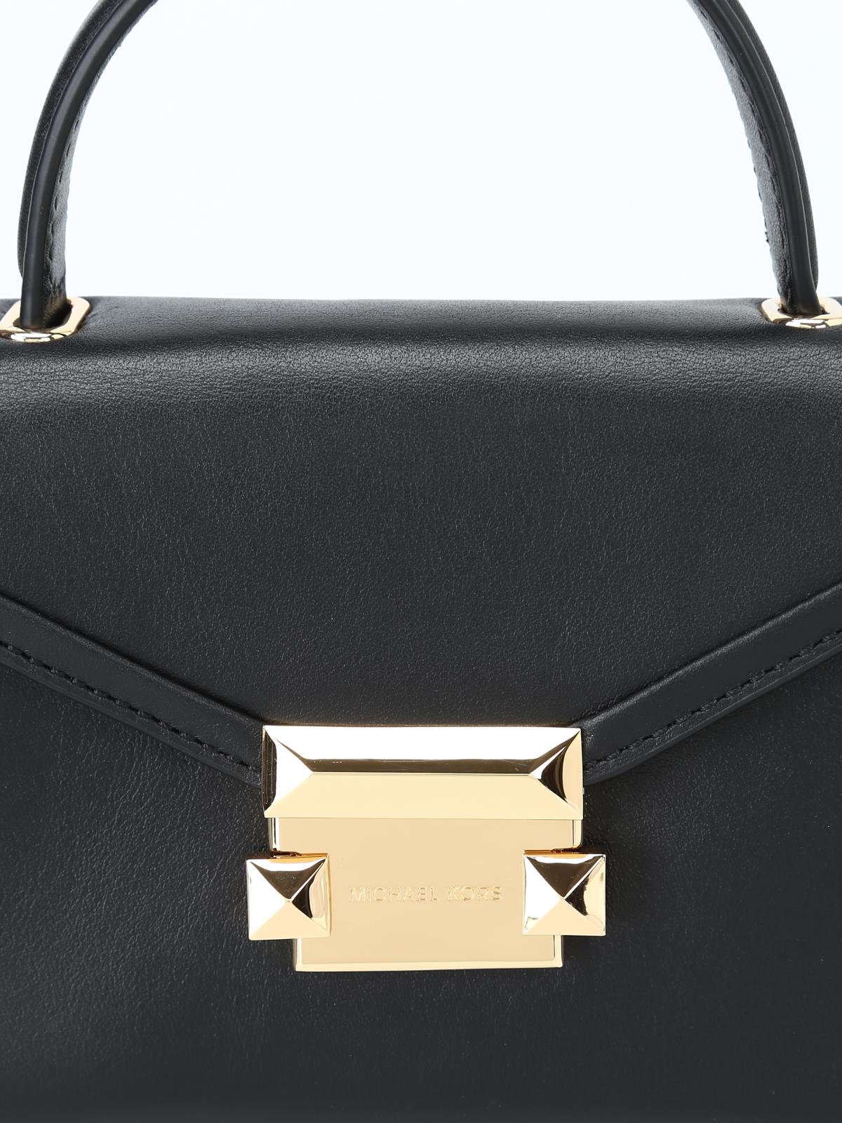 8648278b79 Michael Kors - Mini borsa Whitney in pelle nera - borse a tracolla ...