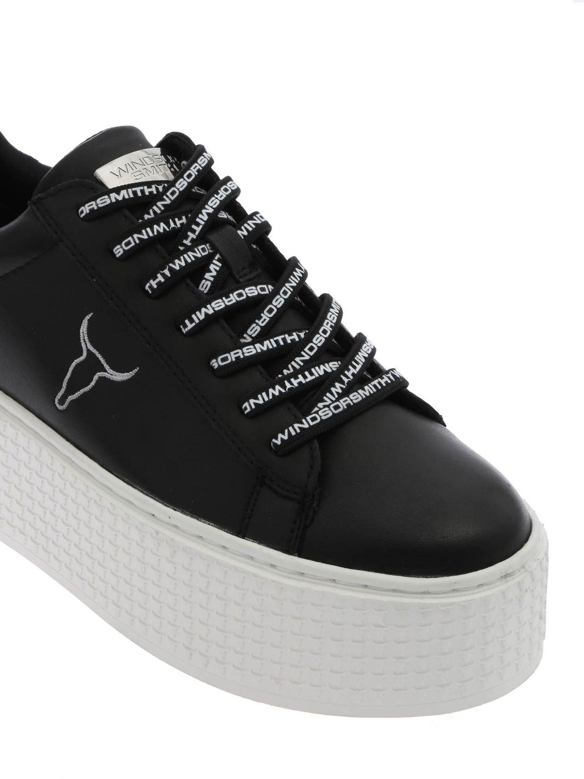 Windsor Smith Sneaker Schwarz Sneaker SEOULBLKWHT