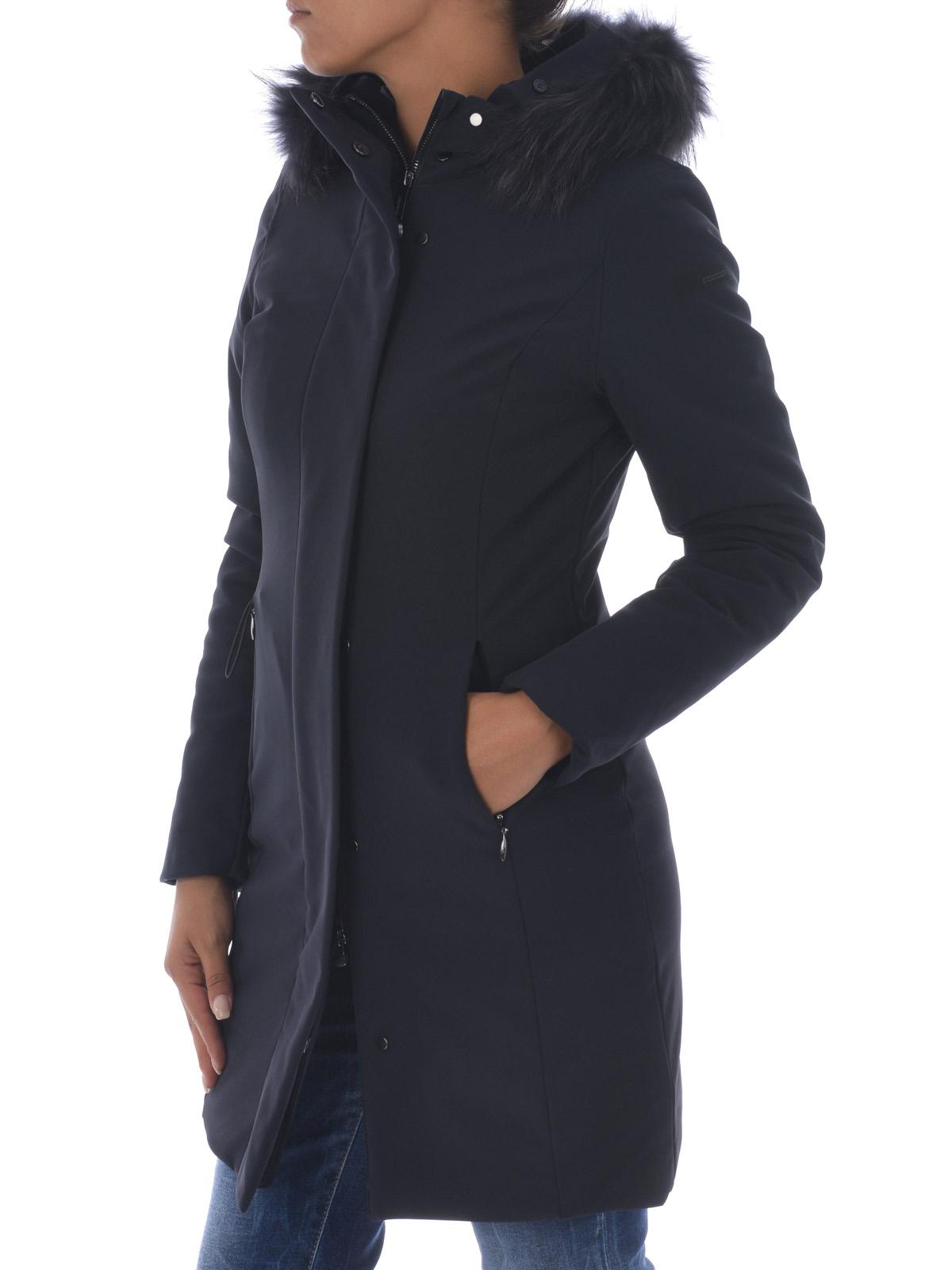 RRD Piumino Winter Long Lady Fur blu cappotti imbottiti