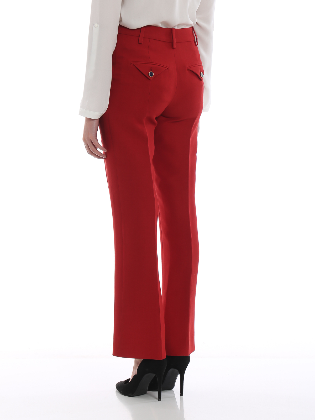 7c4328d4bded Valentino - Wool and silk high rise trousers - Tailored & Formal ...