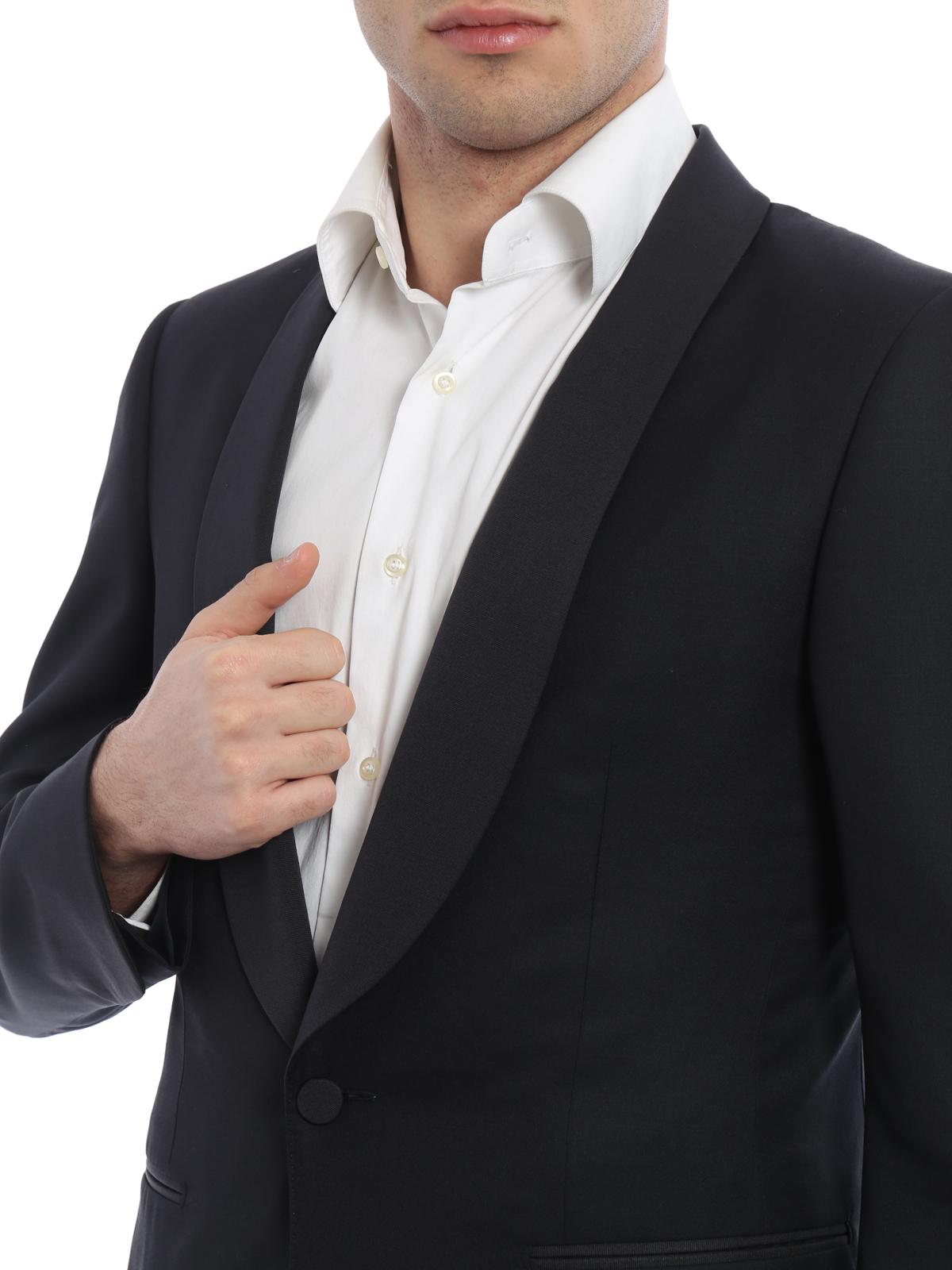 1d2d1d29a66 Ermenegildo Zegna - Costume Noir Pour Homme - Costumes de soirée ...