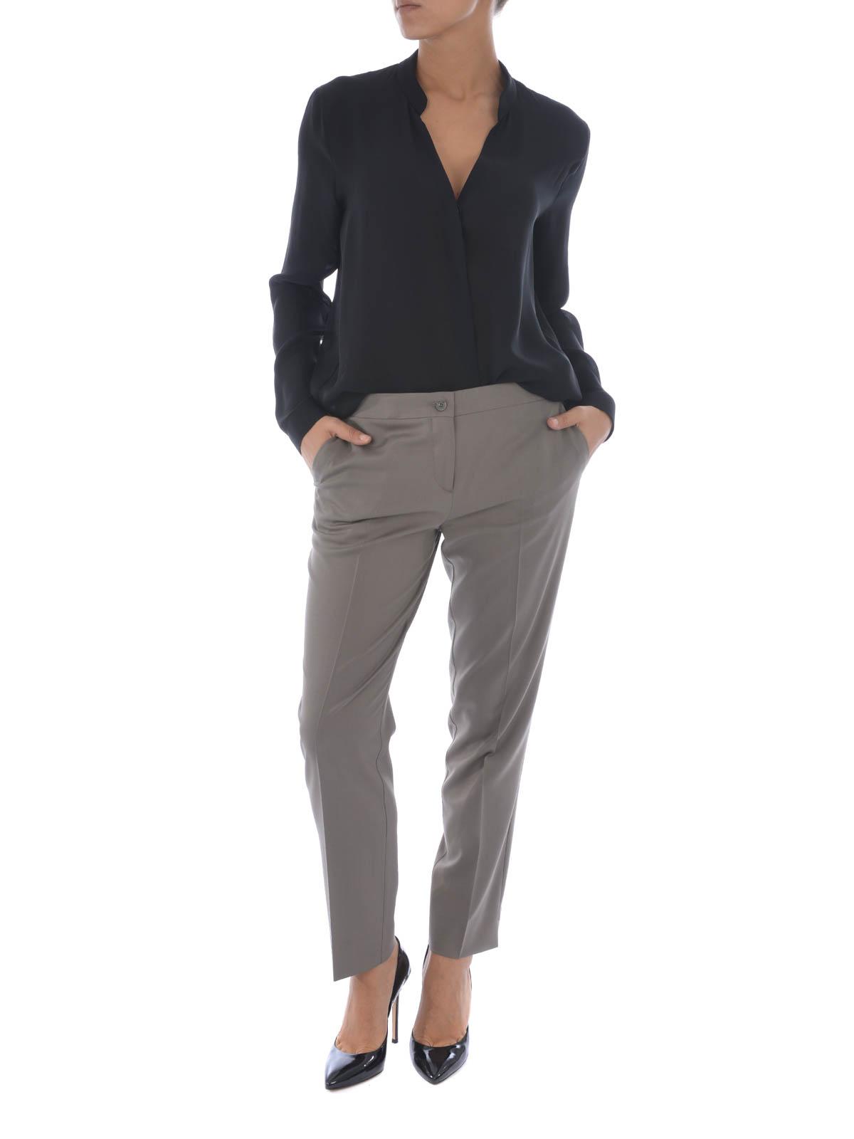 Etro Pantalón De Vestir Gris Para Mujer Pantalones De