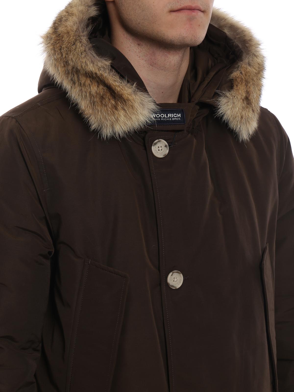 Dark Brown Parka Coat