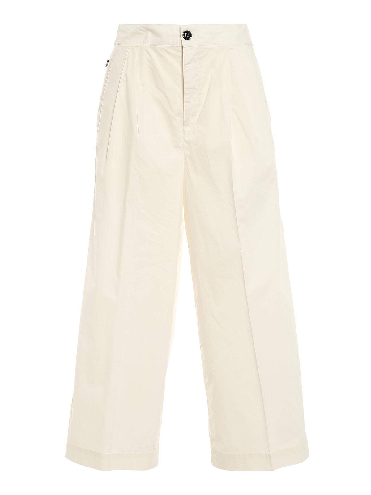 Woolrich Cottons POPLIN WIDE LEG PANTS