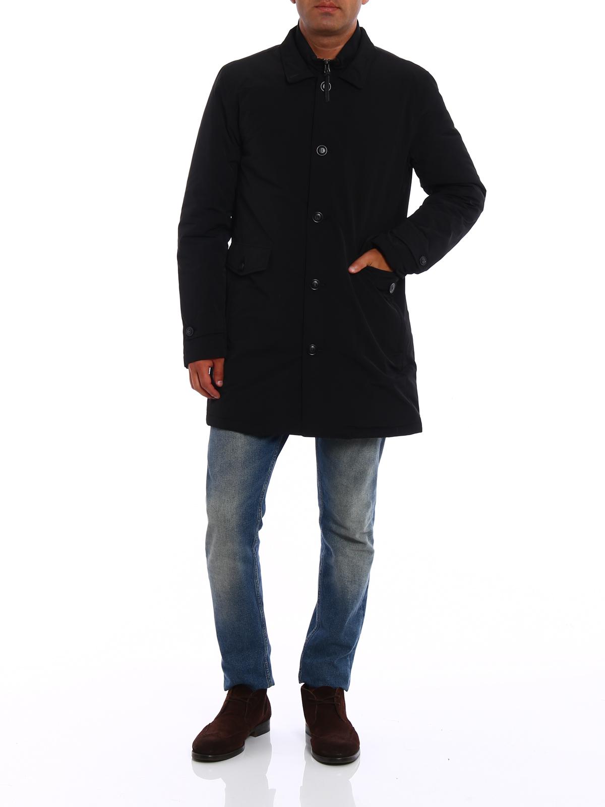 d26d38d8c456 WOOLRICH  padded coats online - Turner wind proof black warm coat