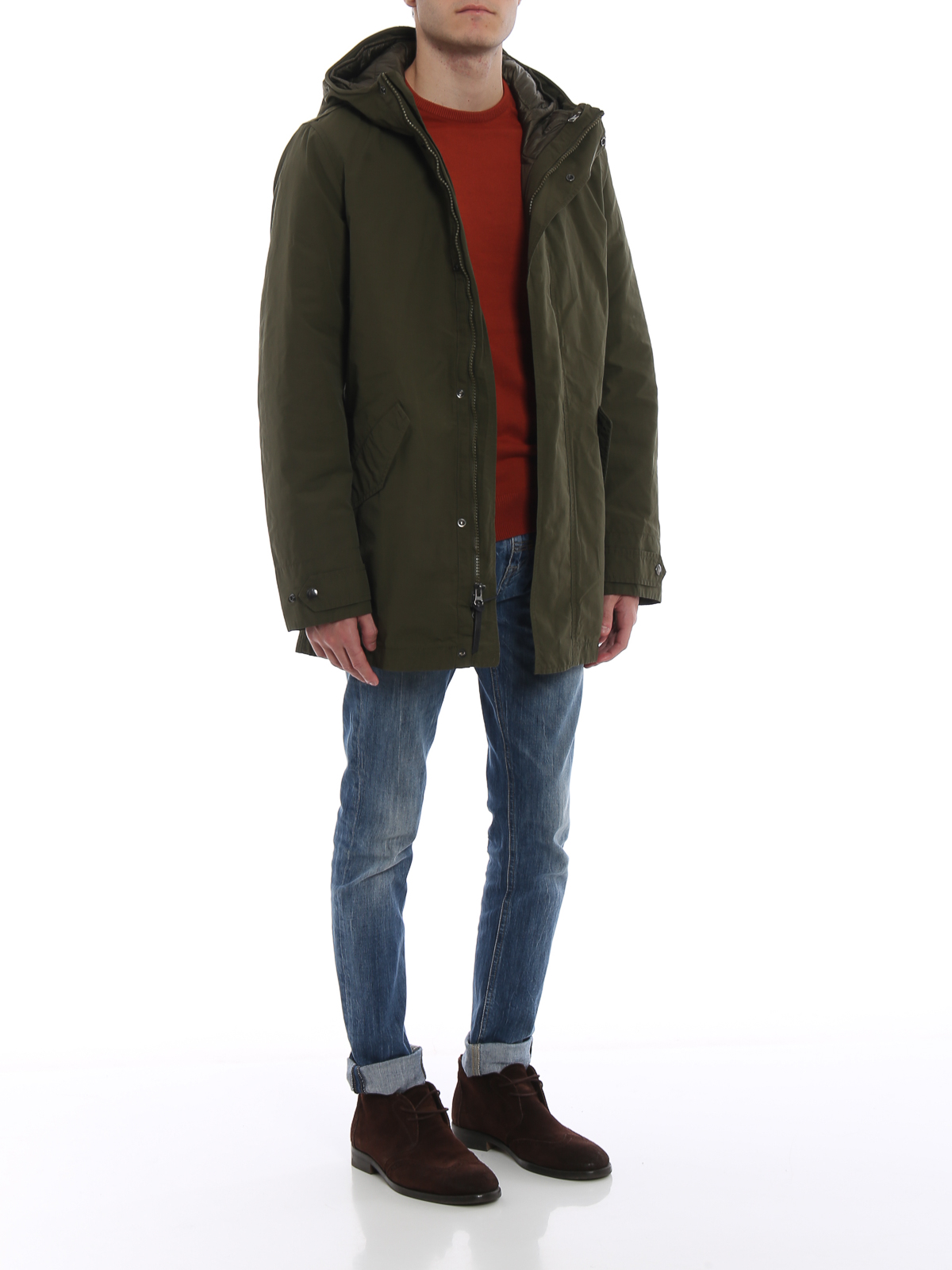 huge discount 07817 eda0d Two Wax Parka One Woolrich Green In Parkas Army Mountain ...
