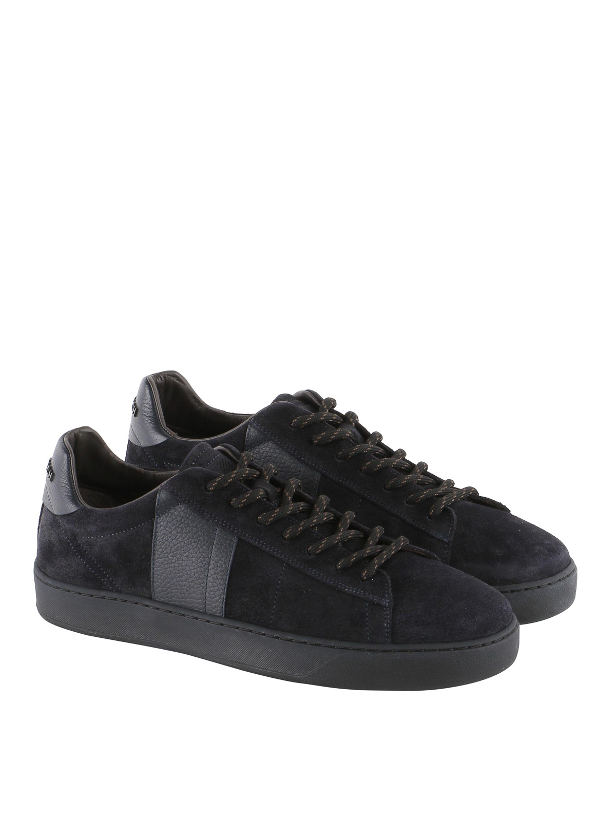 Woolrich - Court Low blue suede and