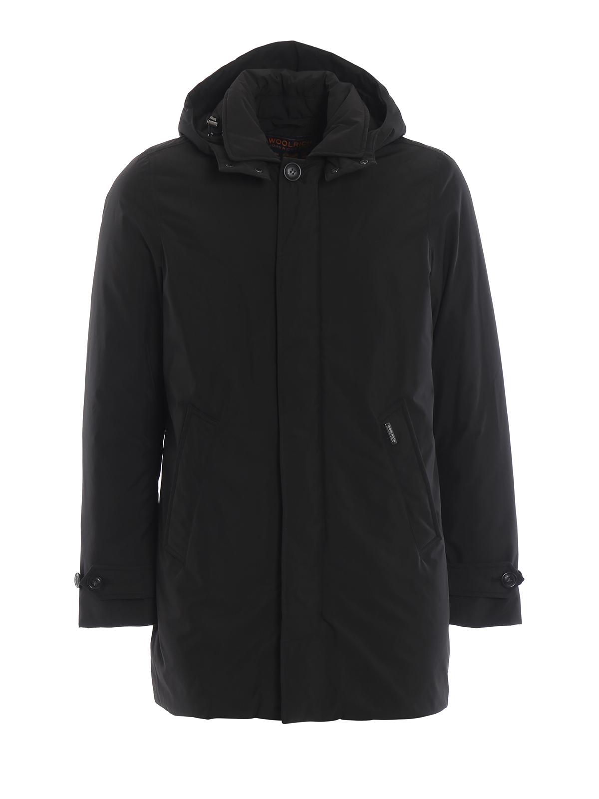 Piumino Woolrich City Cappotti Coat Imbottiti Nero YqxwU6O8R