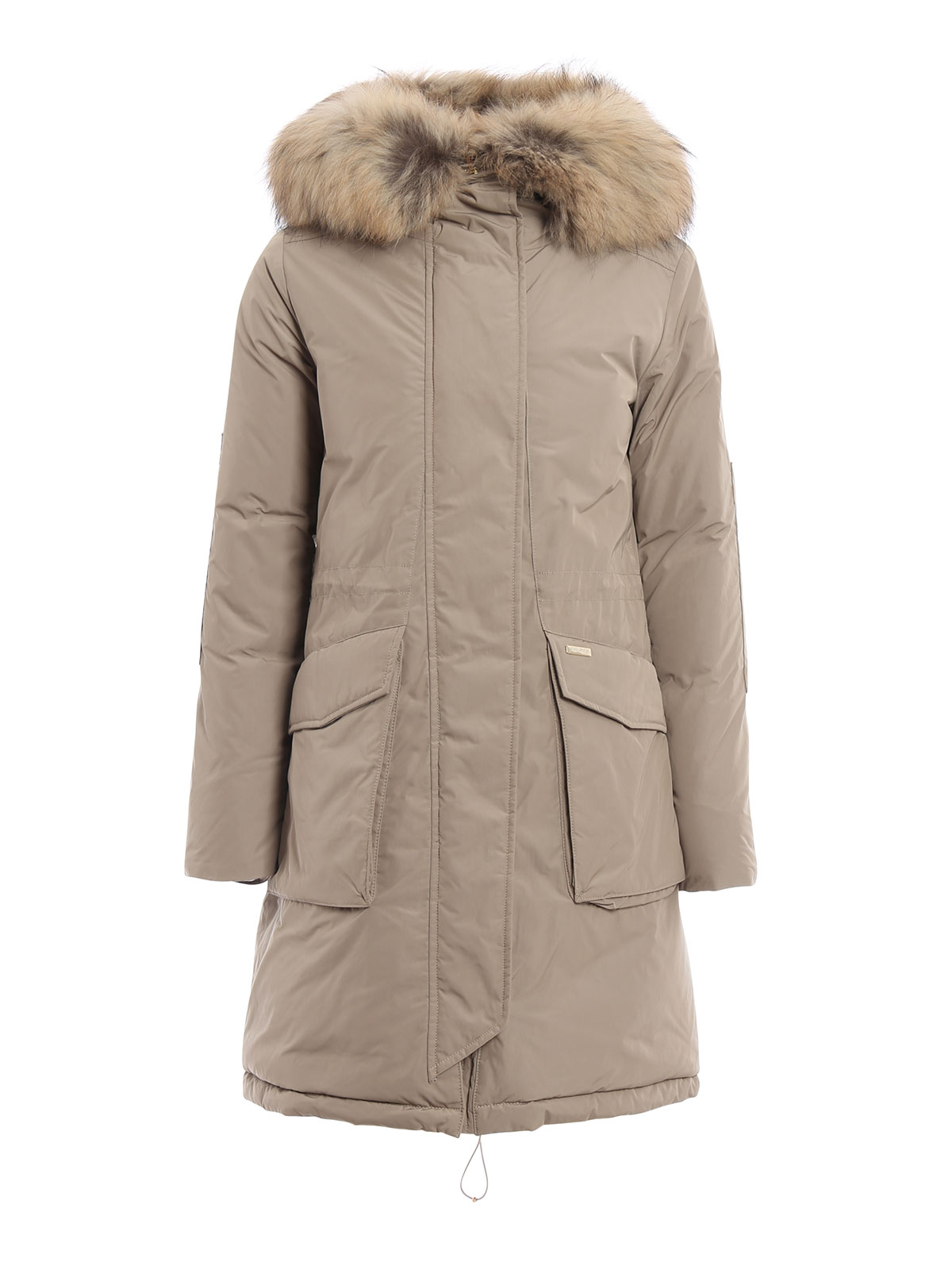 military fur trimmed down parka by woolrich padded coats. Black Bedroom Furniture Sets. Home Design Ideas