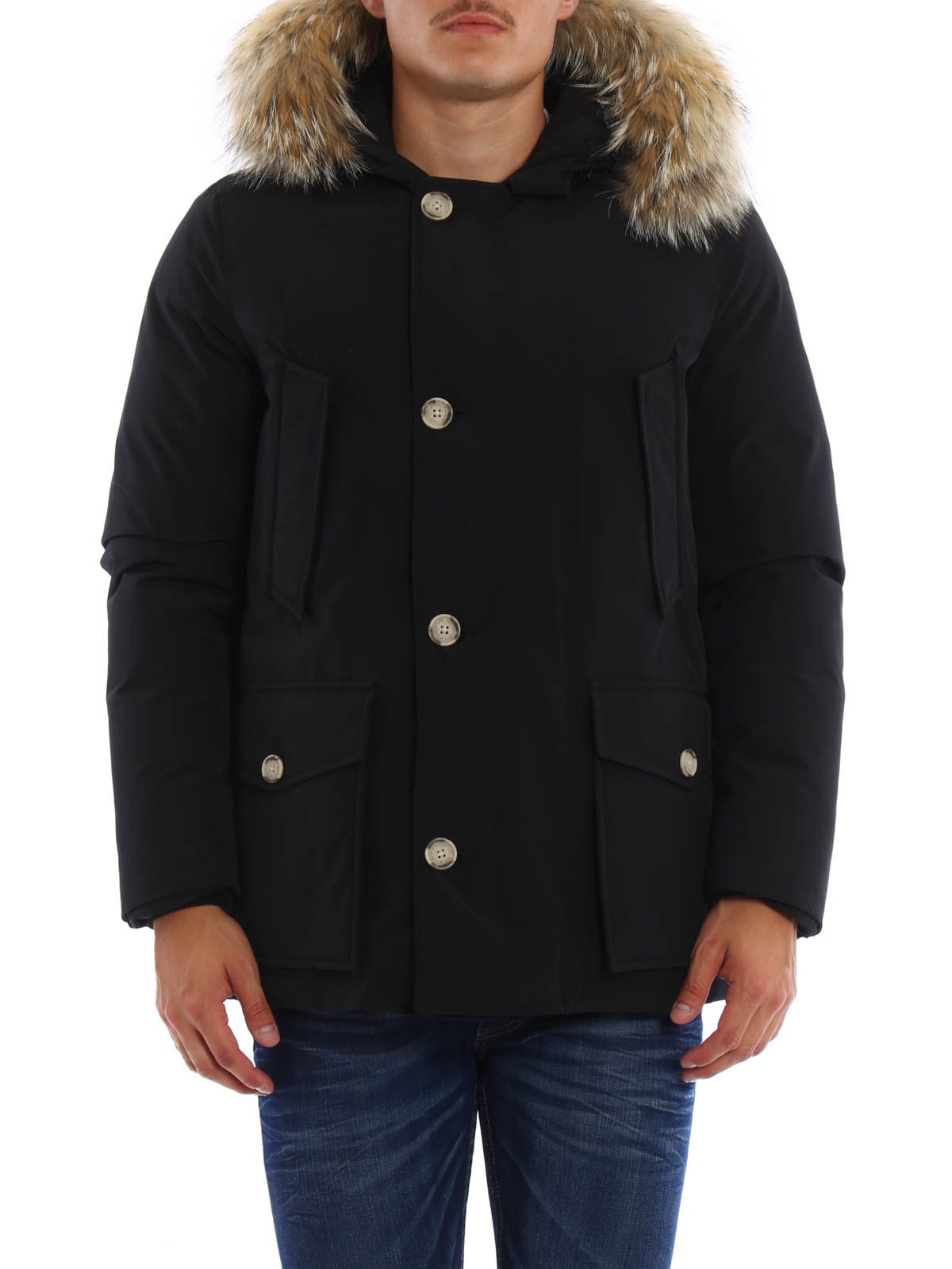arctic anorak padded coat by woolrich padded coats shop online at. Black Bedroom Furniture Sets. Home Design Ideas
