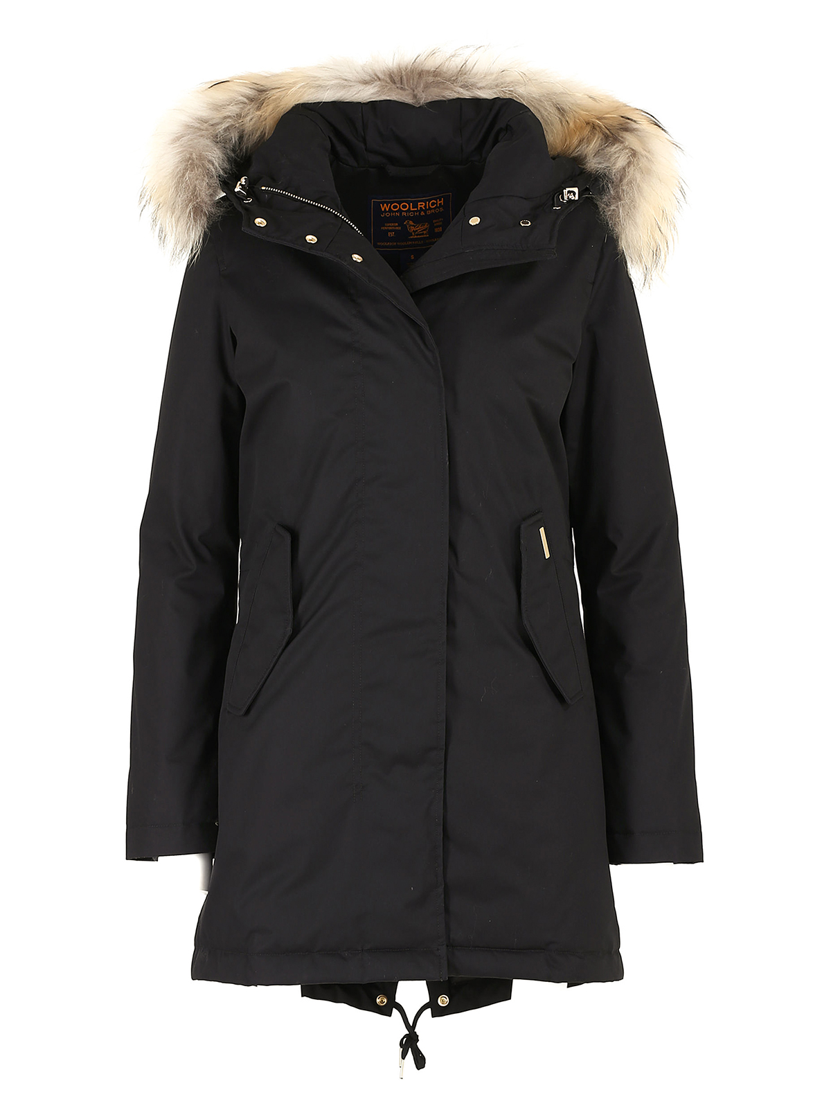 tiffany eskimo black padded parka by woolrich padded coats ikrix. Black Bedroom Furniture Sets. Home Design Ideas