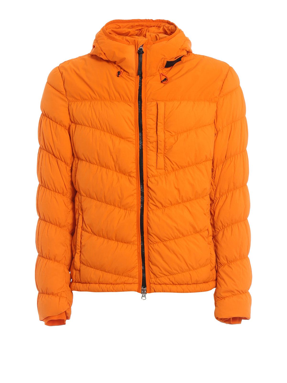 Woolrich Daunenjacke Orange Kurze Daunenjacken