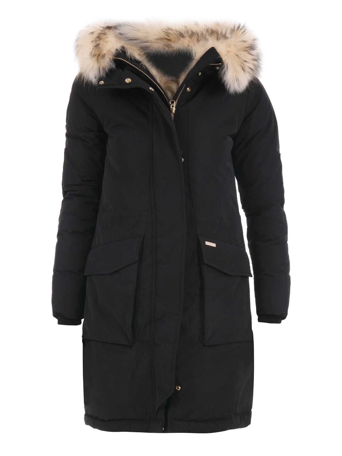 parka fur damen schwarz von woolrich parkas ikrix. Black Bedroom Furniture Sets. Home Design Ideas